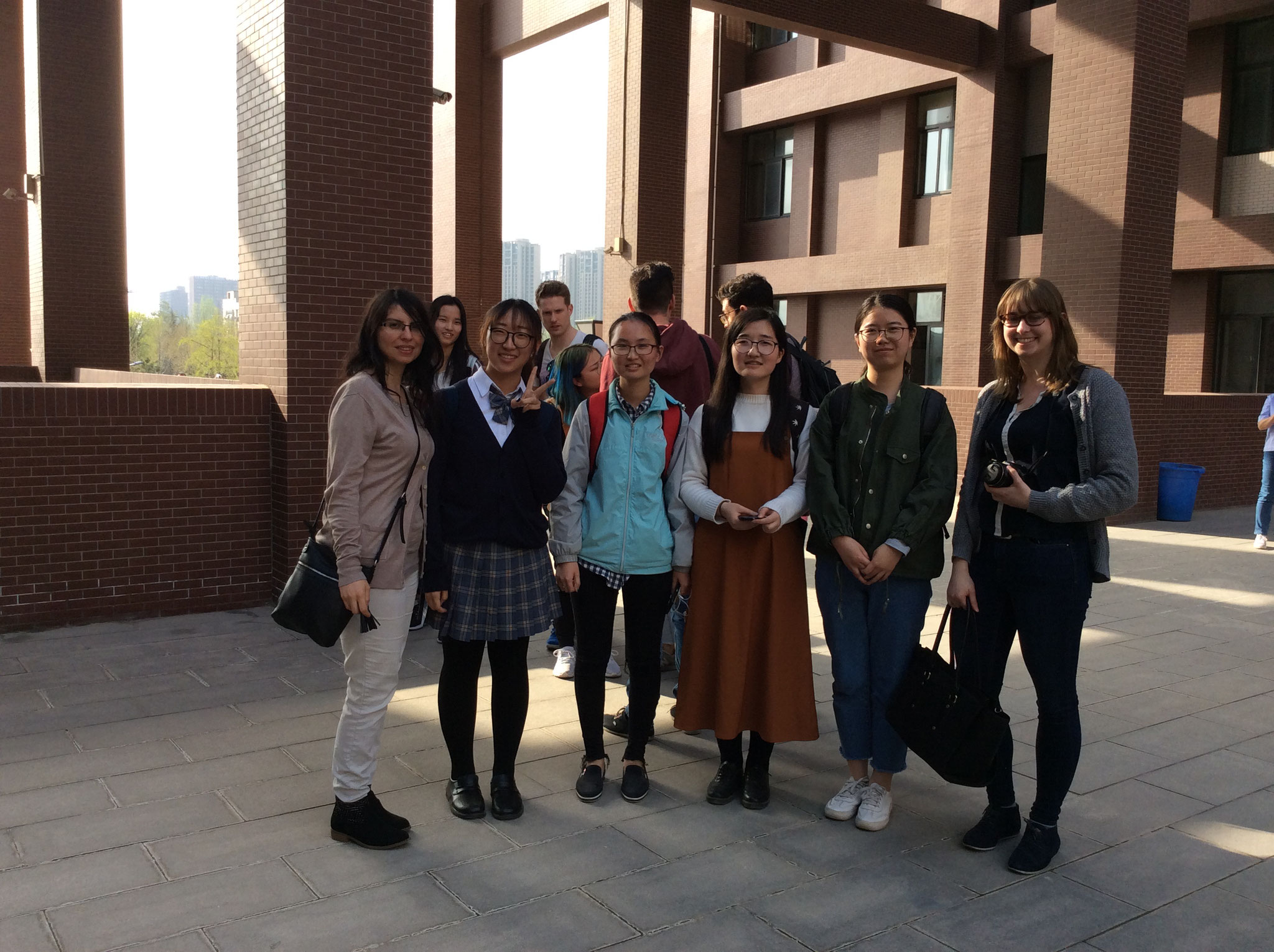 Some Chinese and German students