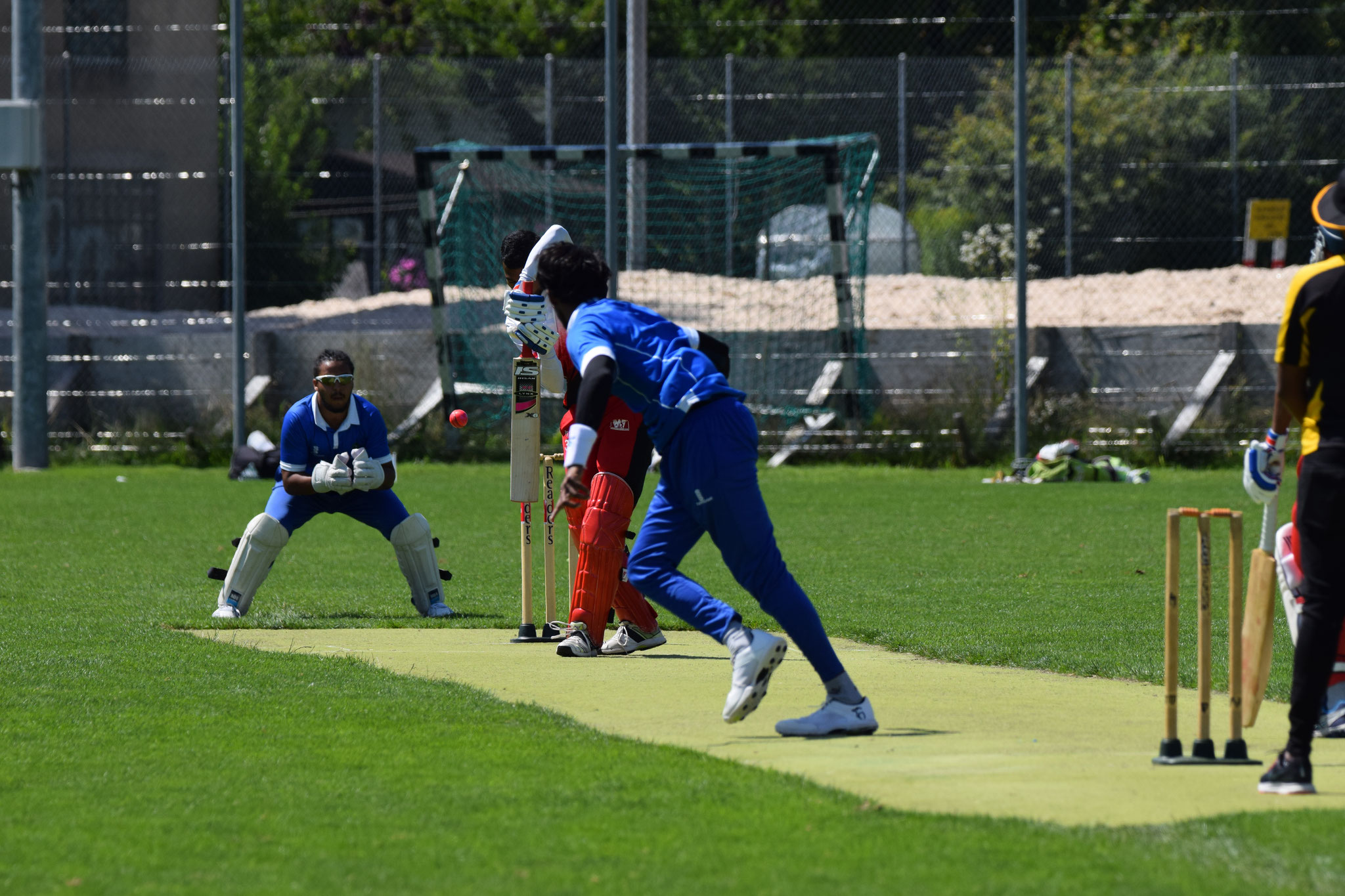 Over 4 and it was Keeran's turn again. A golden duck and the 5th batsman has to depart. Edged and caught behind.