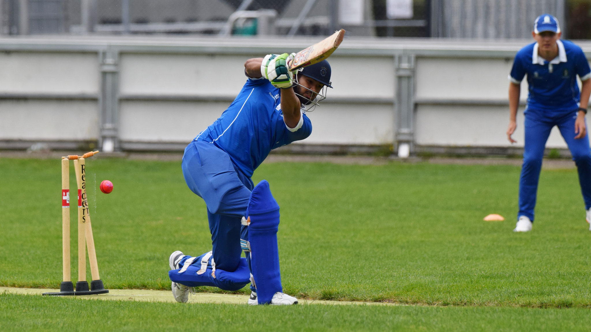 Khawar was bowled by Lavan.