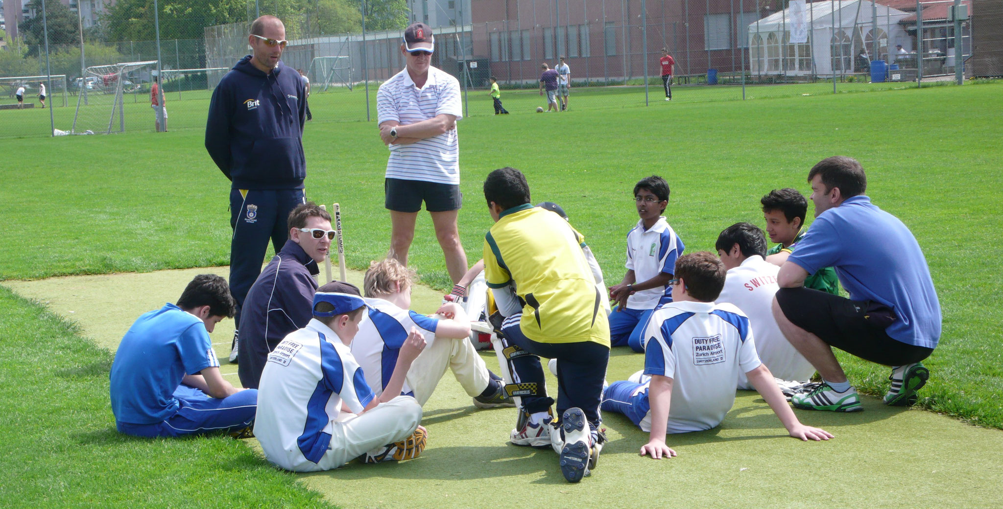 Hampshire camp with the Under 15s in 2013
