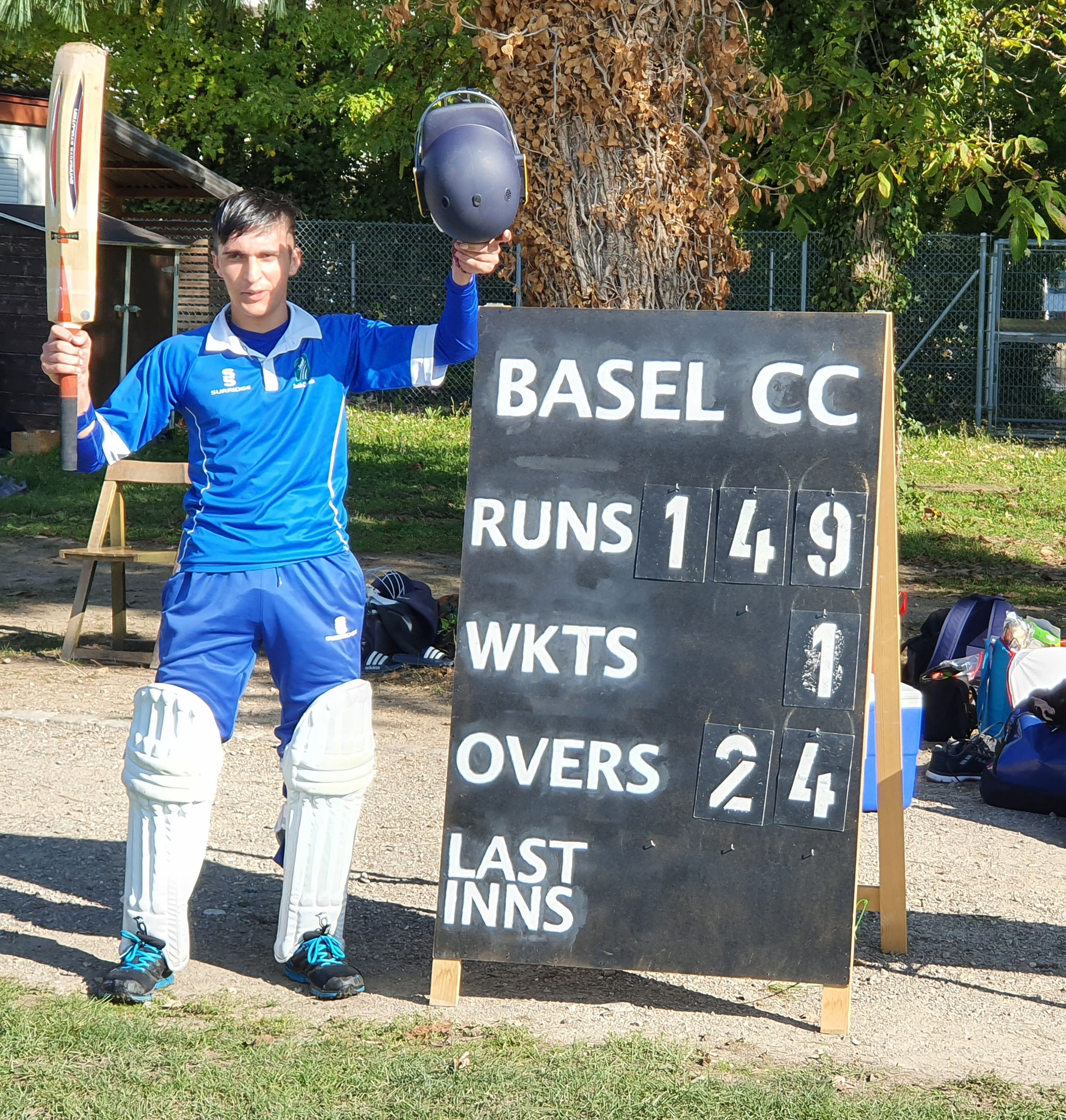 Khalid retired on 108 having faced 83 balls and hit 13 boundaries