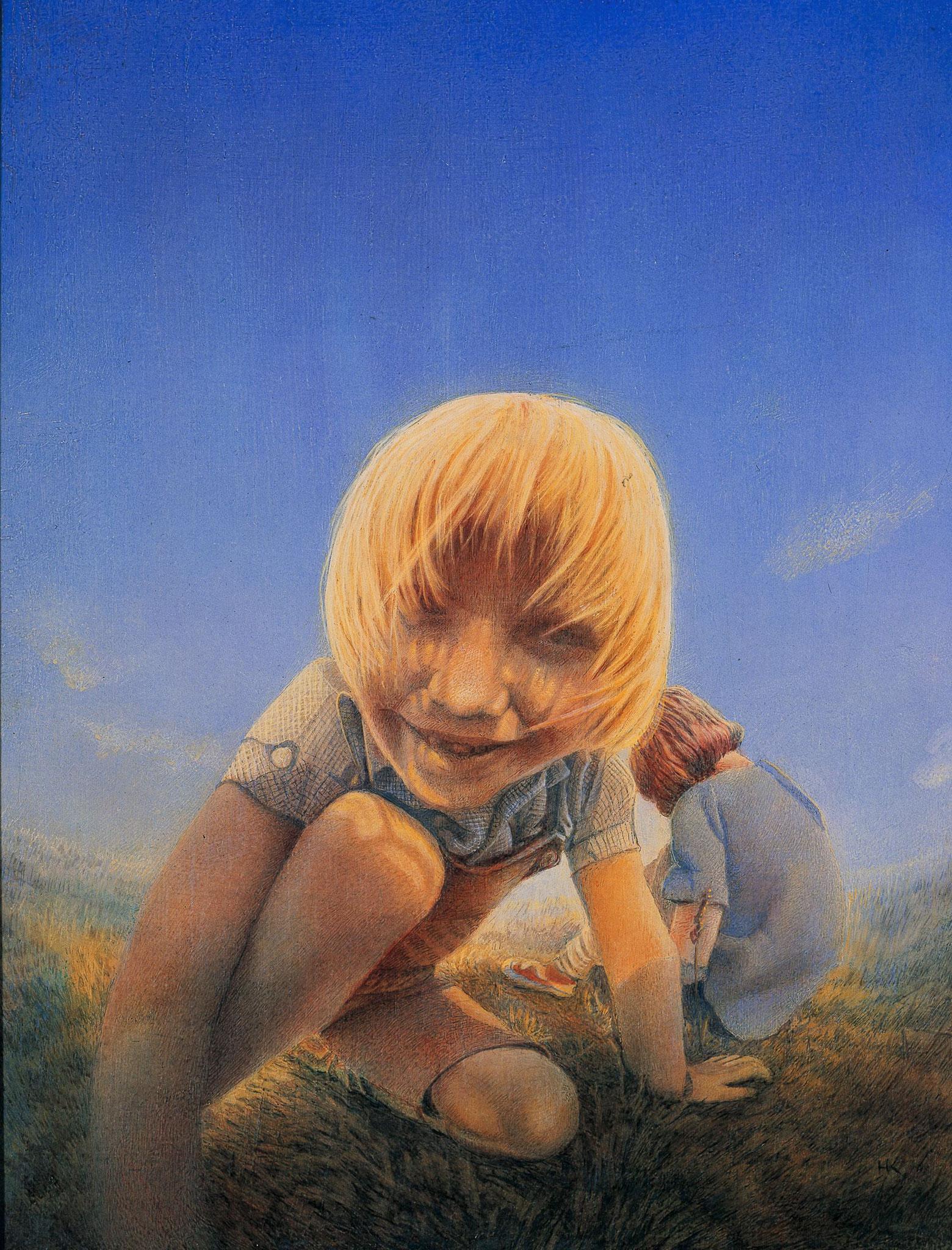 Daniel, Öl Tempera auf Holz, 30 x 24 cm, 1987