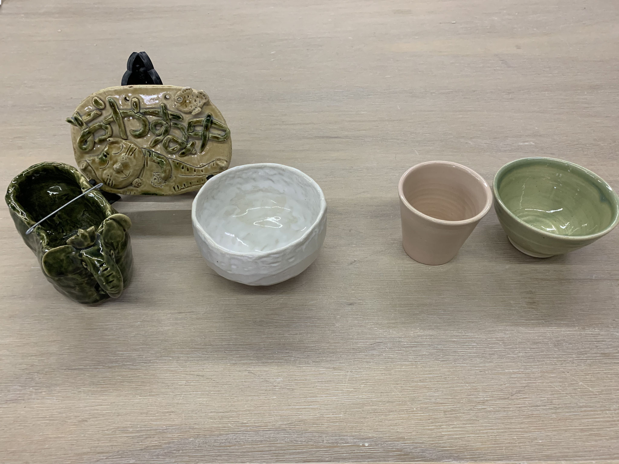 大人Bコース(手びねり自由+ロクロ湯のみor茶碗)
