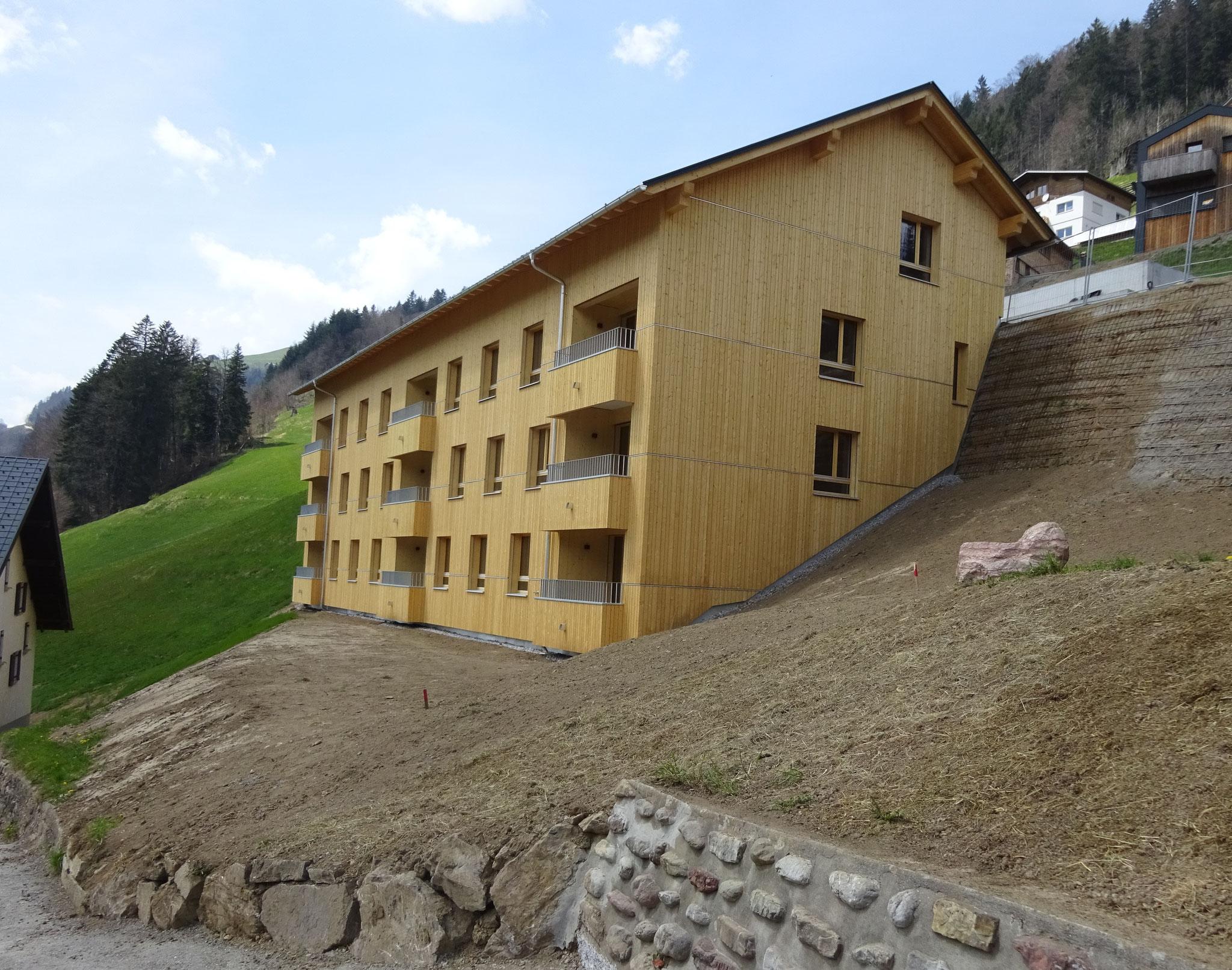 WA Bühl Sonntag, Bauherr: Wohnbauselbsthilfe Vorarlberg