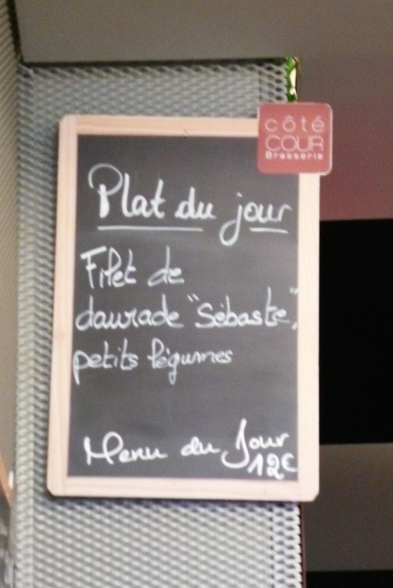日替わりランチ 鯛のフィレ野菜添え