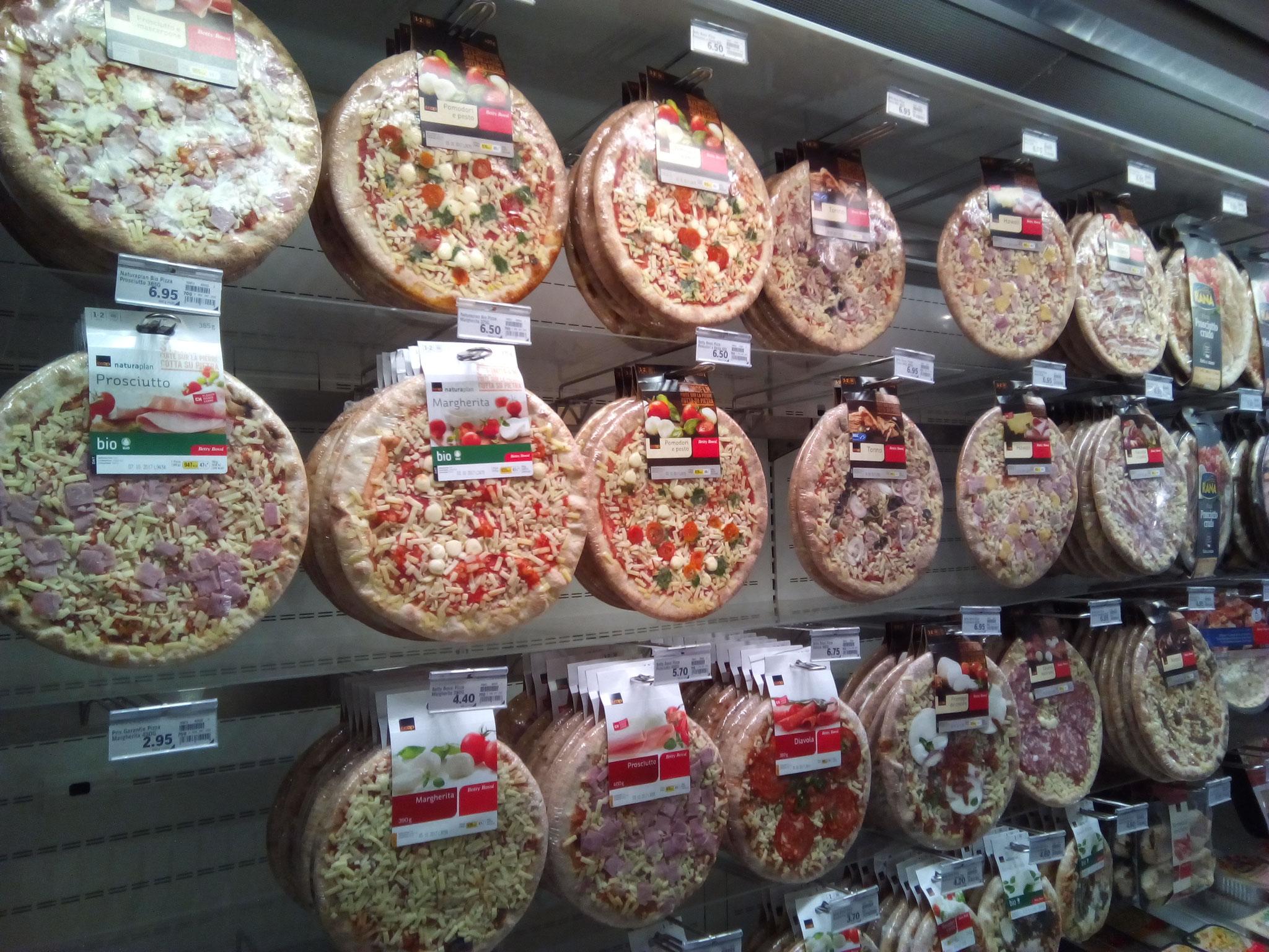 このピザのディスプレイは新鮮!