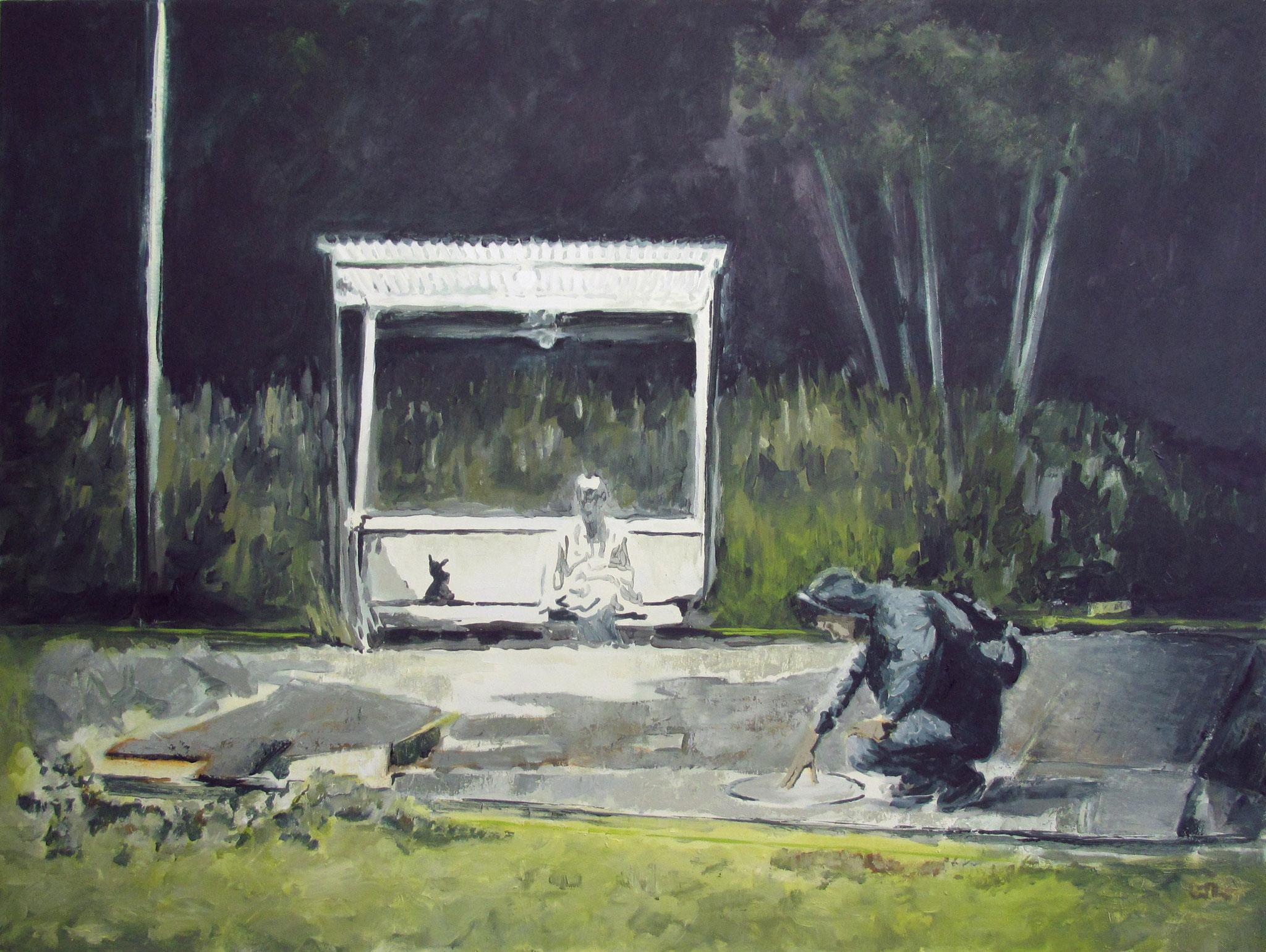 Busstop | 90 x 120 cm | Öl auf Nessel | 2018