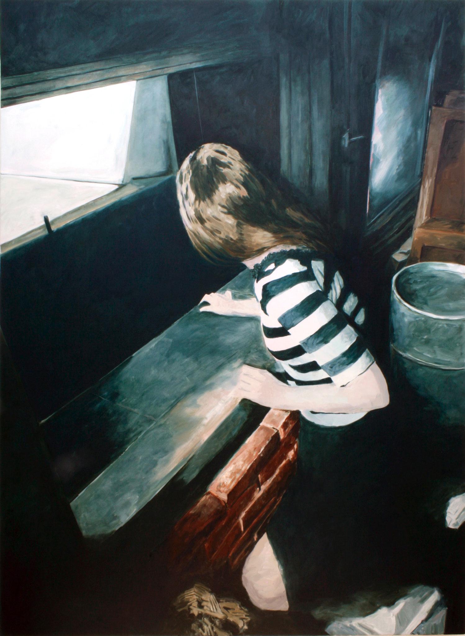 Mitten im Irgendwo | Judy | 195 x 140 cm | Öl auf Nessel | 2017