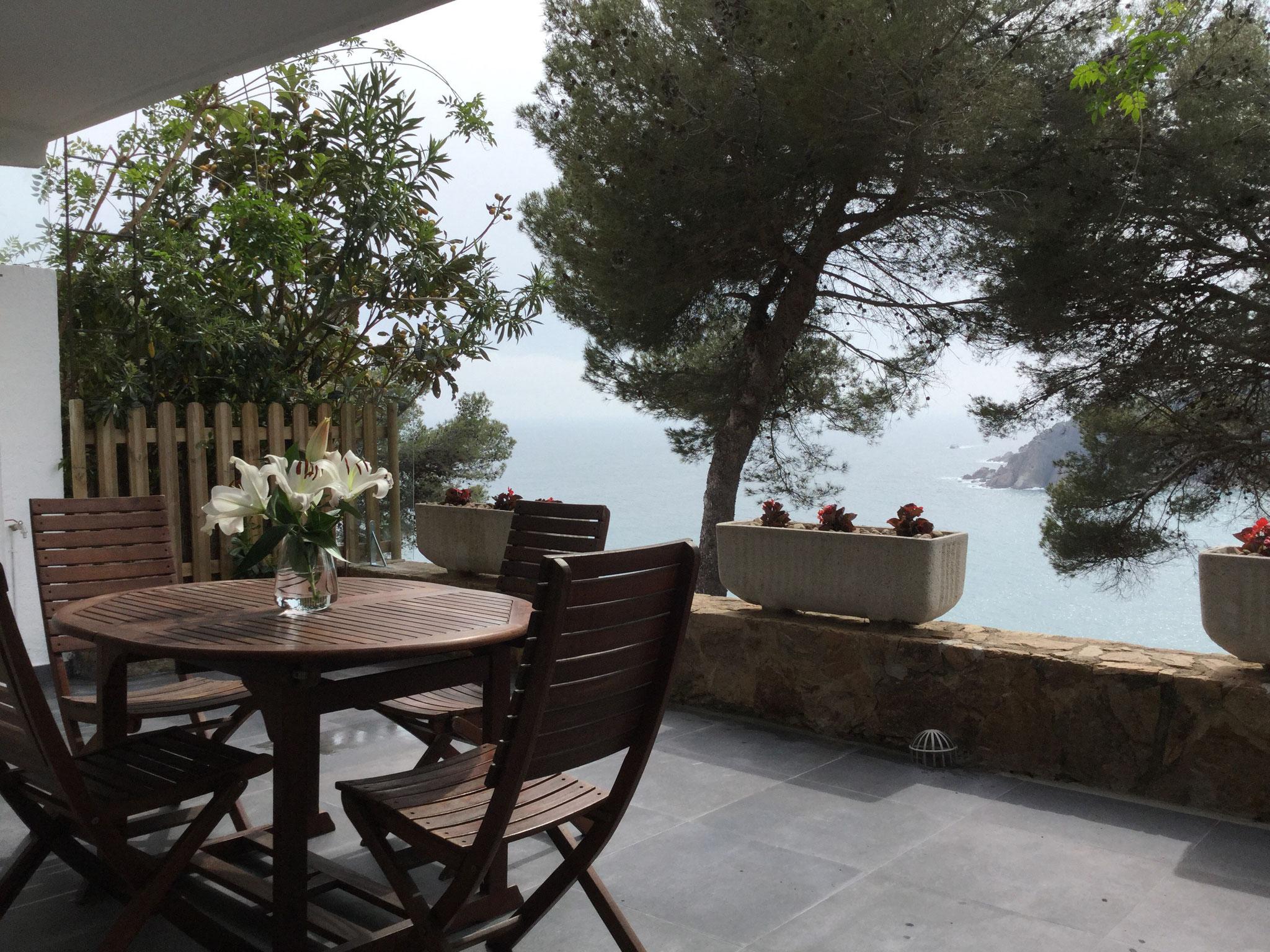 Terrassa amb vistes a la mar