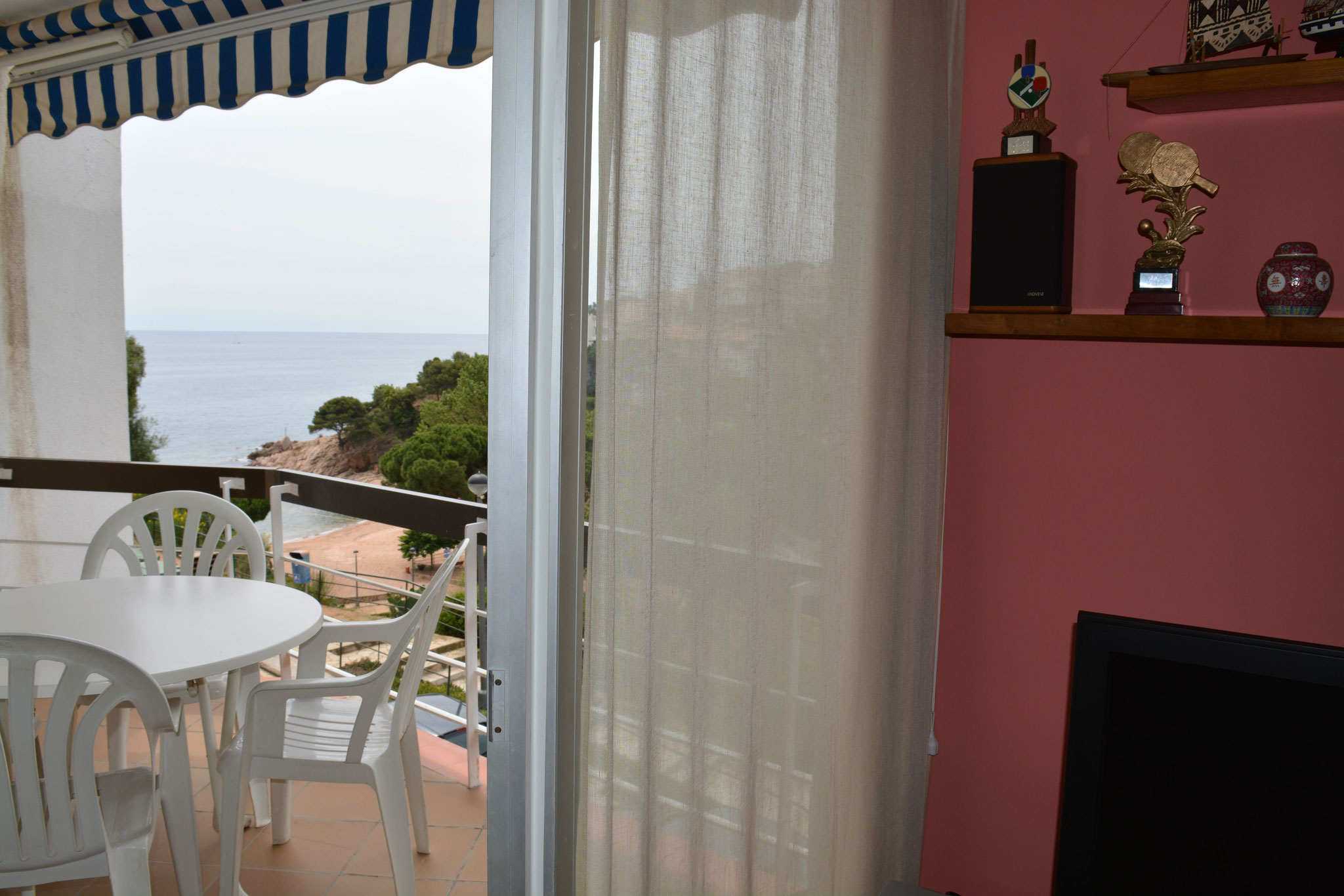 View of the beach from the living room
