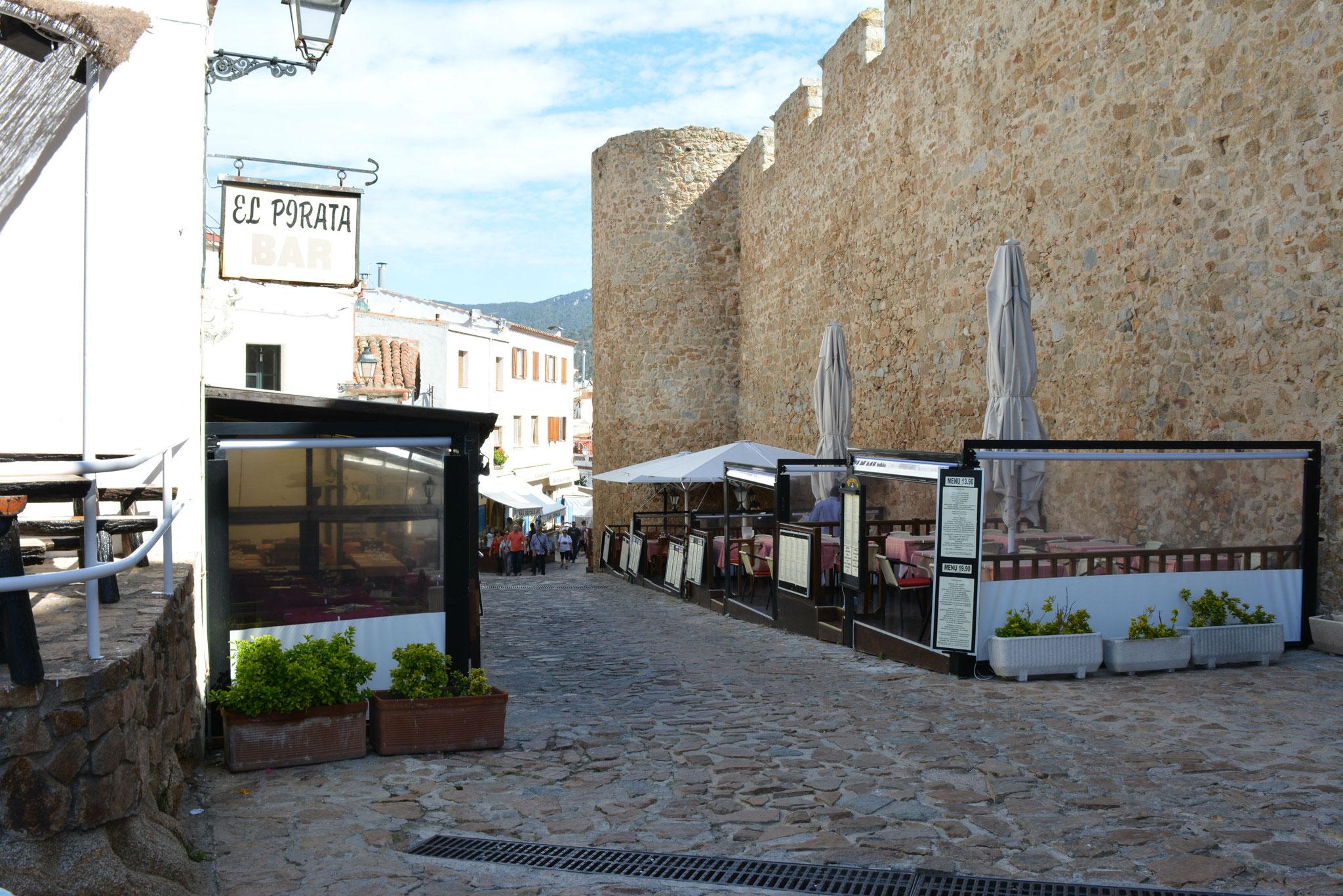 Rue des restaurants Tossa de Mar