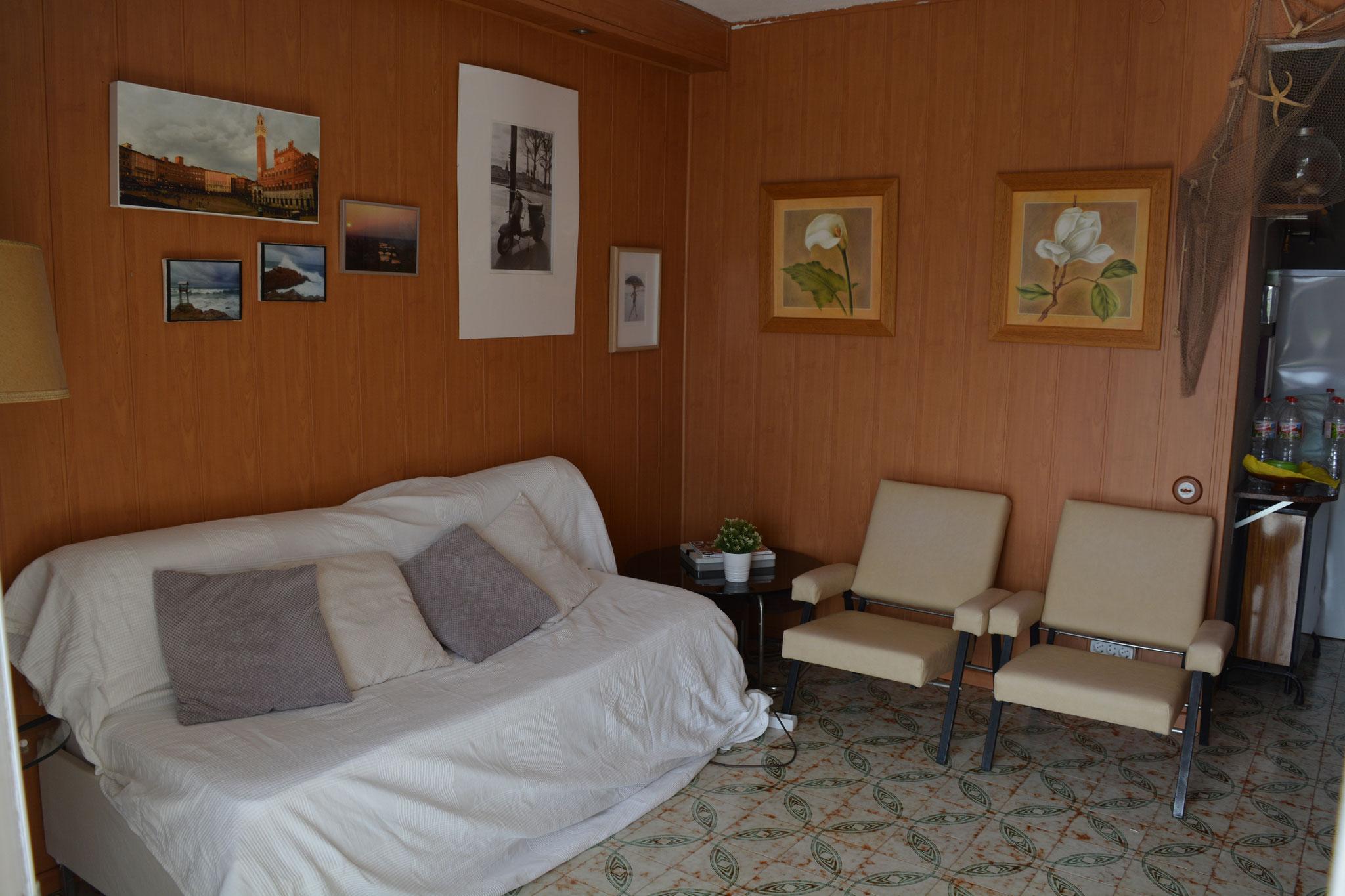 Canapé-lit dans le salon
