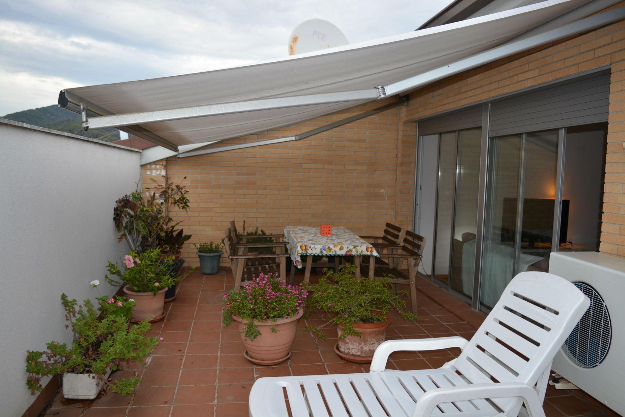 Terraza solario del estudio
