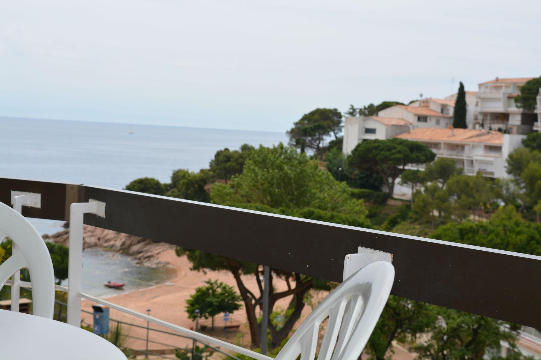 Terrace overlooking the beach