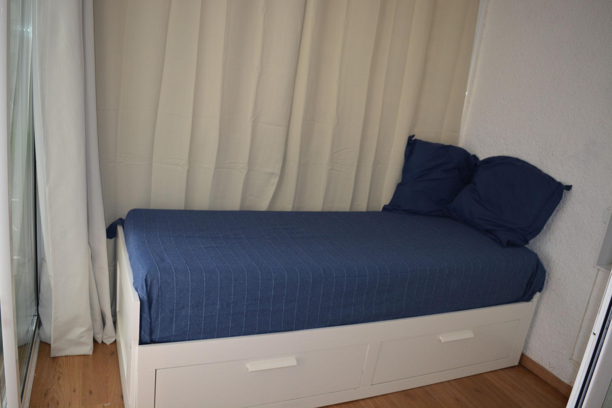 Dormitorio en terraza