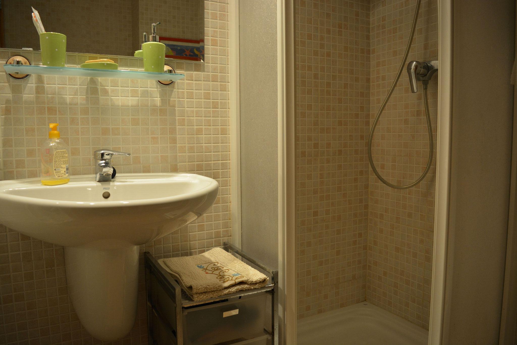 deuxième salle de bains avec douche