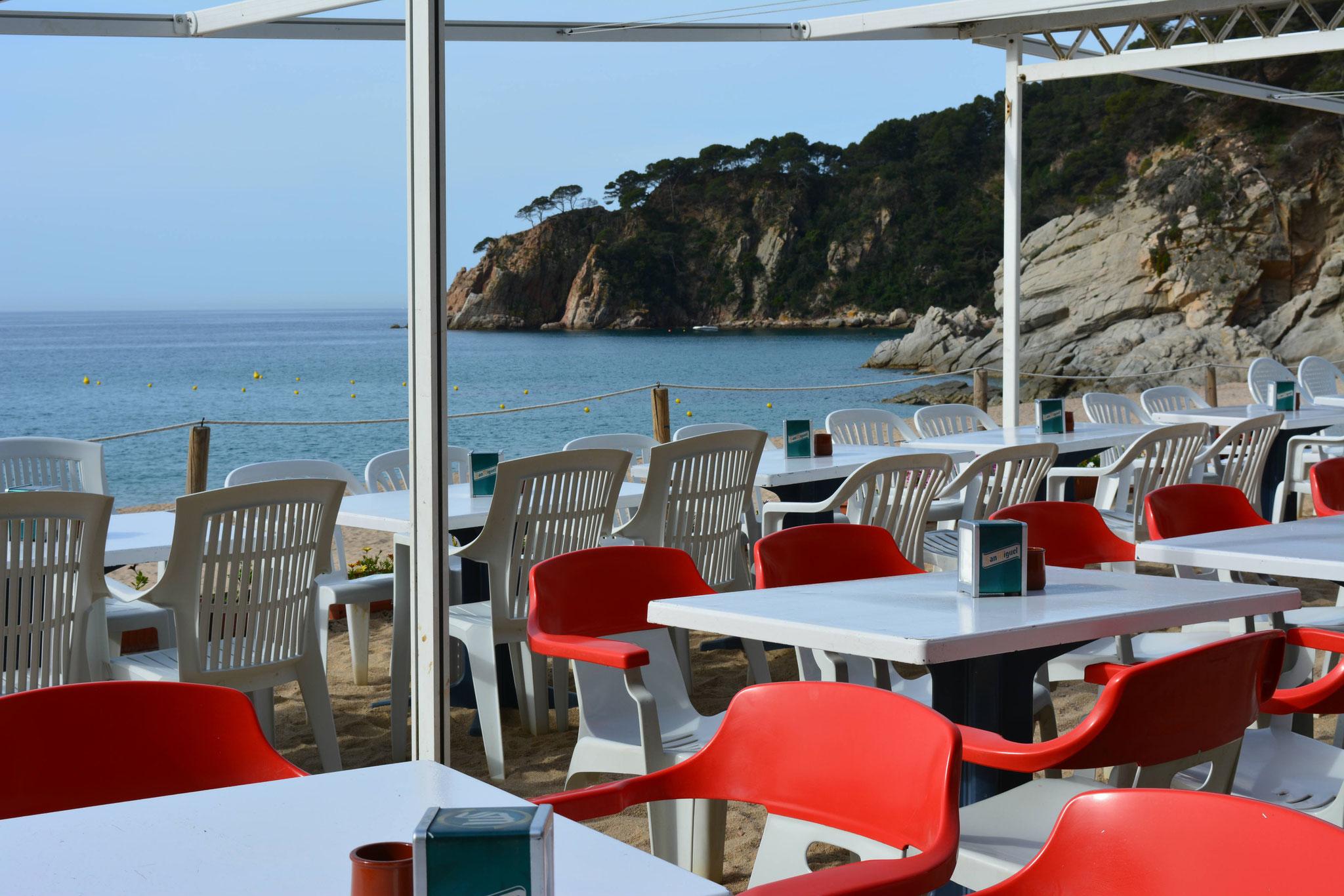Bar de plage sur la plage