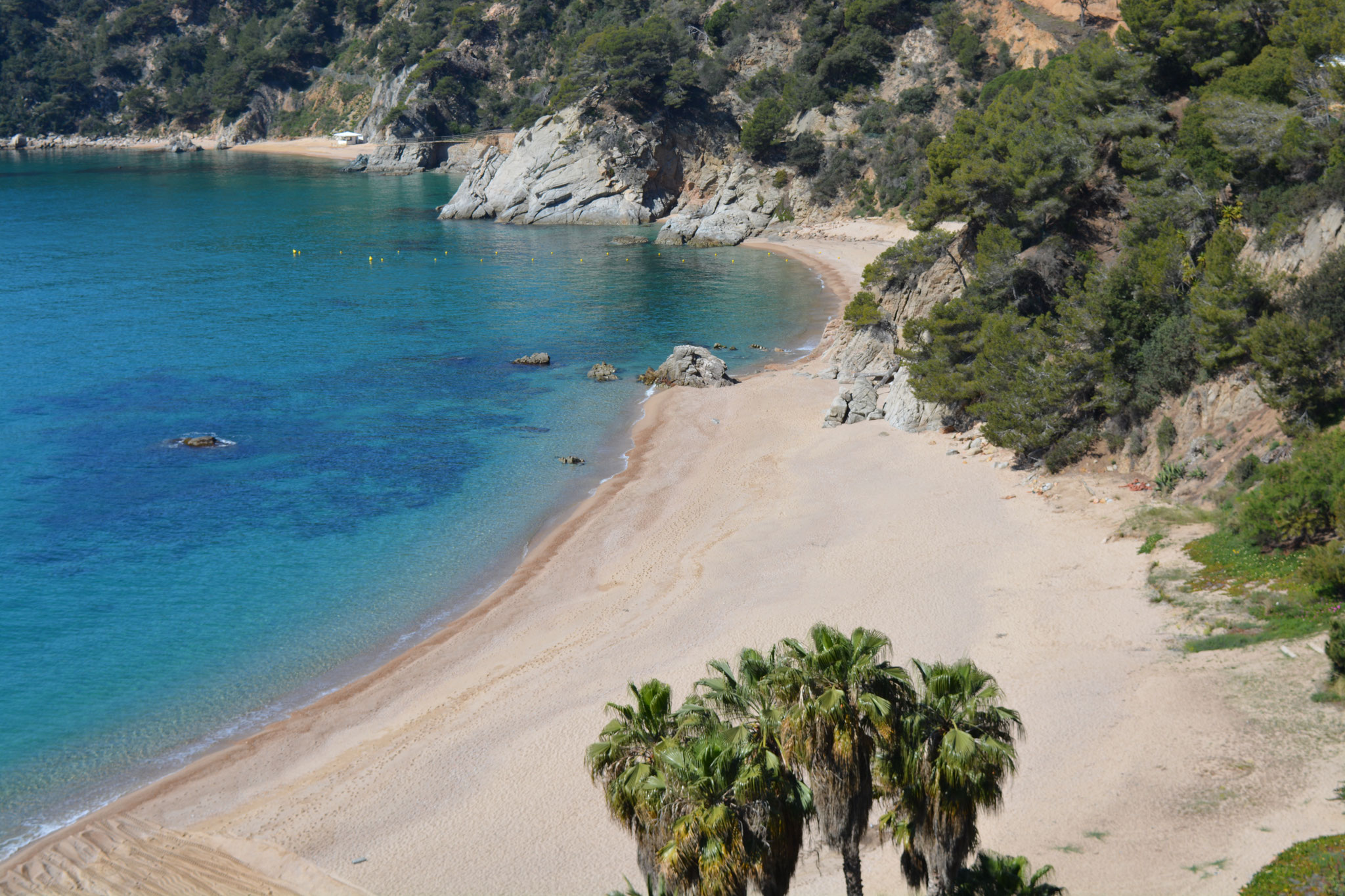 Cala Llevadó beach for the exclusive use of residents