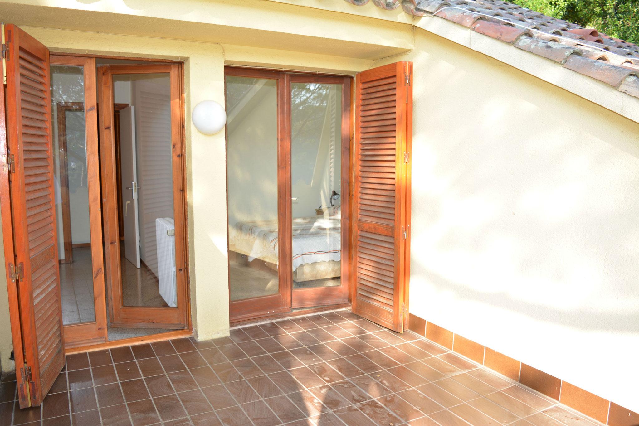 Terrasse des chambres