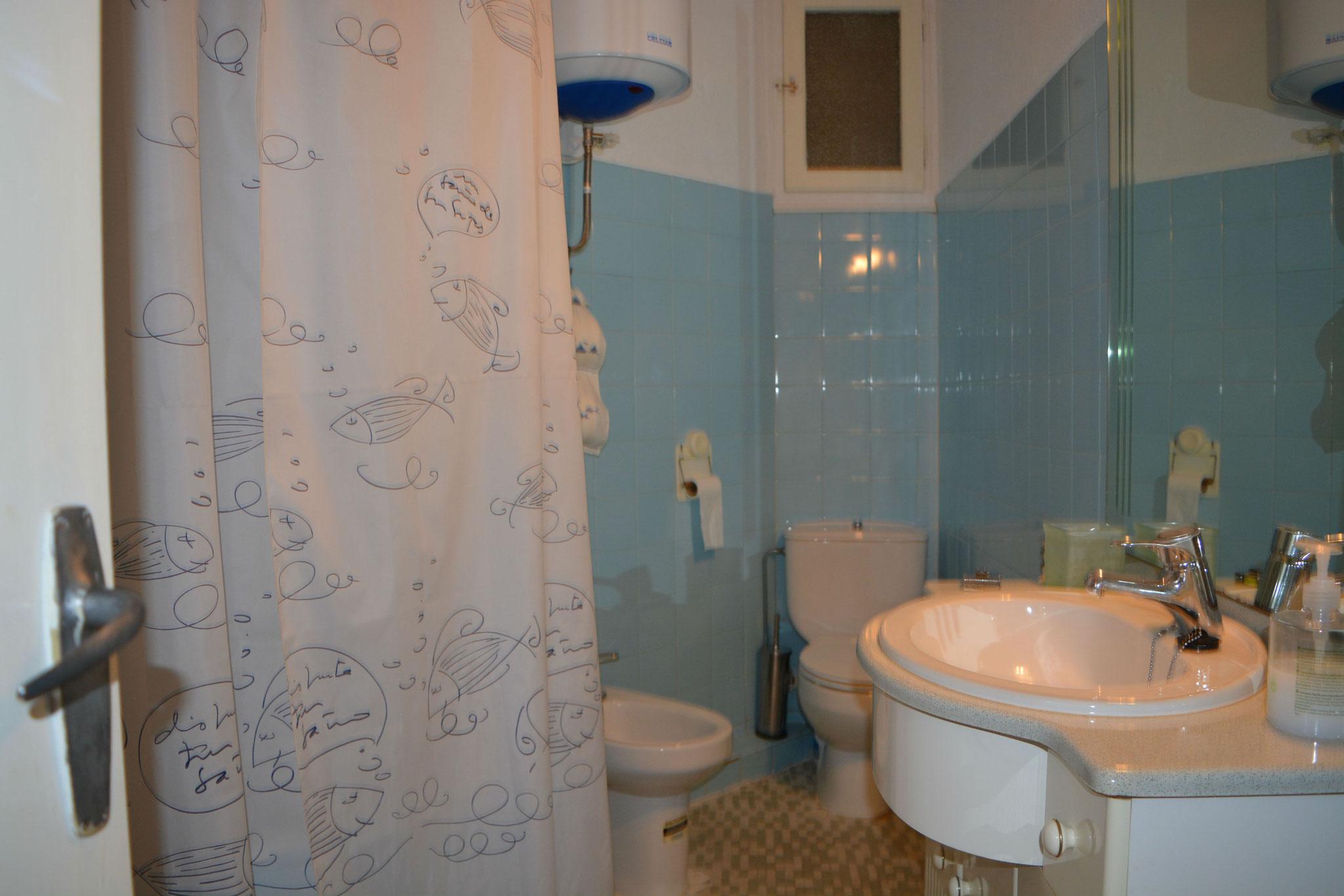salle de bains, avec une rondelle de charge moyenne