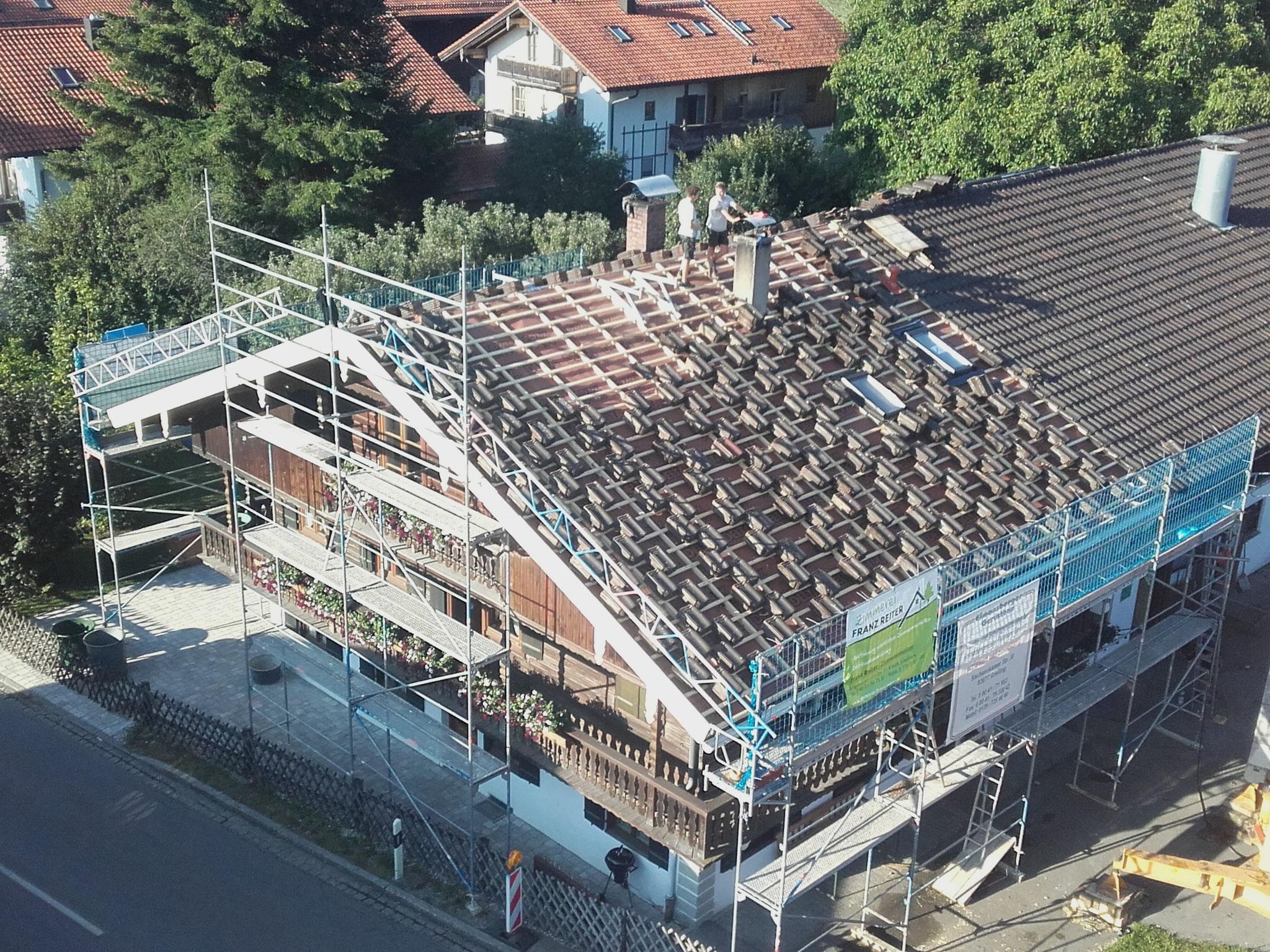 Dachsanierung Bauernhaus