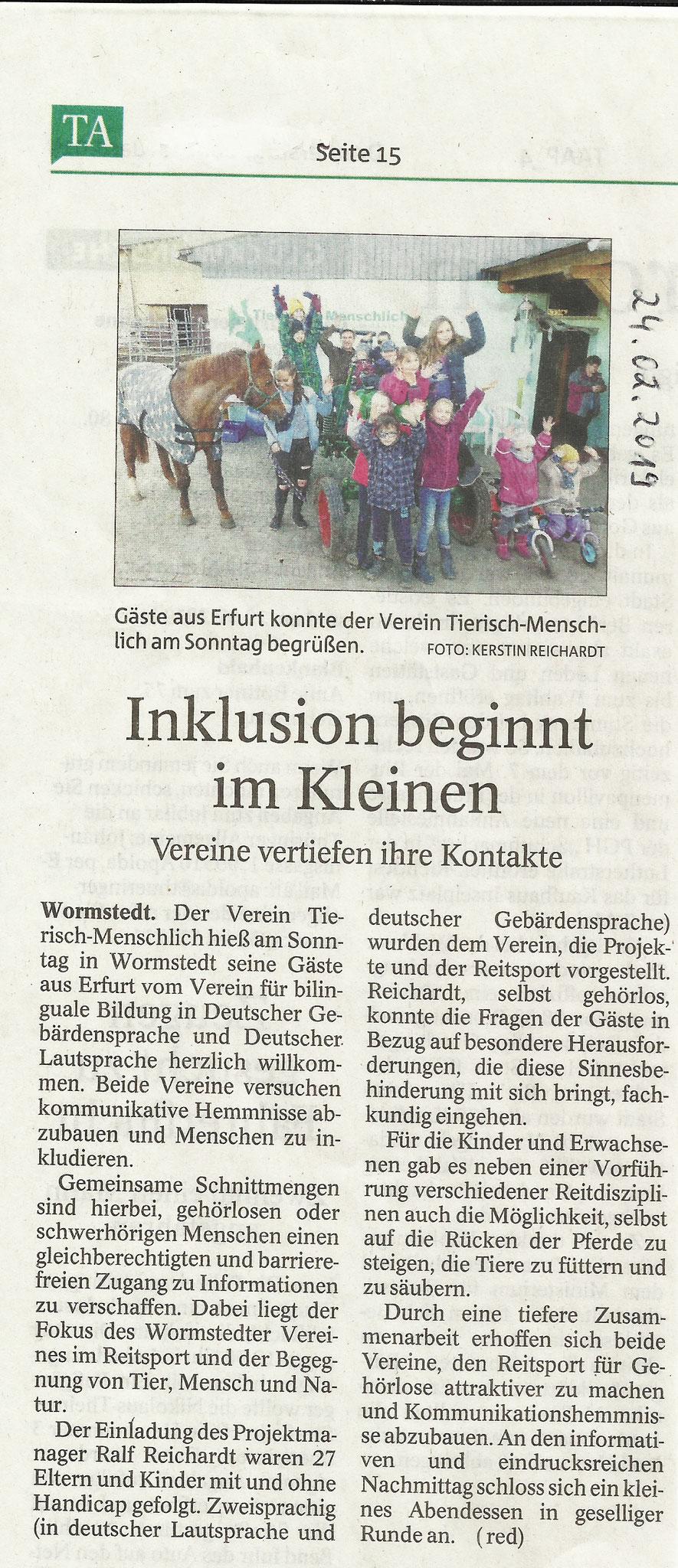 Thüringer Allgemeine vom 24.02.2019