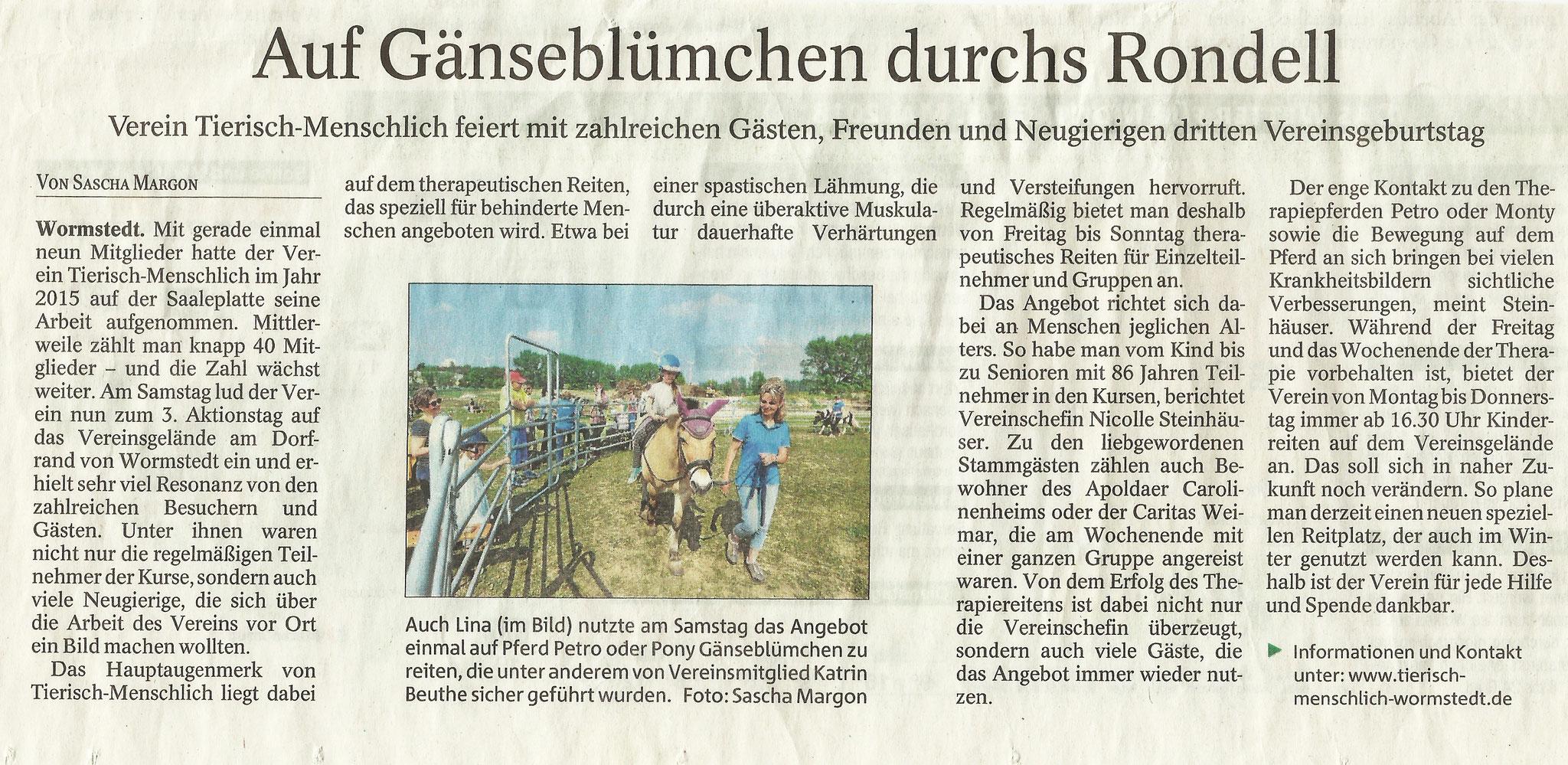 Thüringer Allgemeine vom 04.05.2018