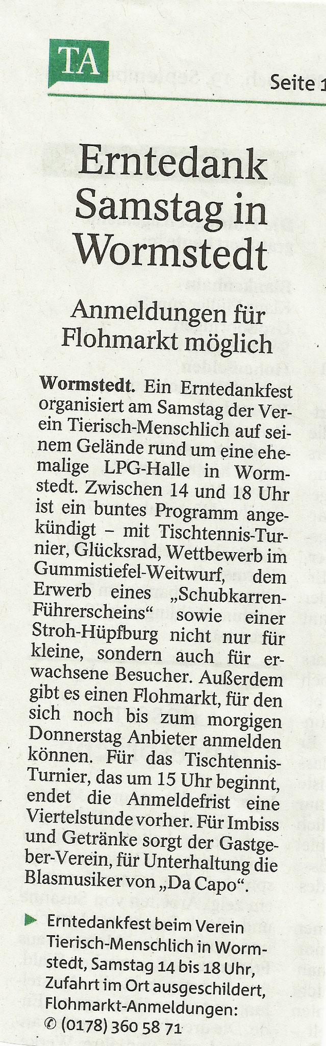 Thüringer Allgemeine vom 19.09.2018