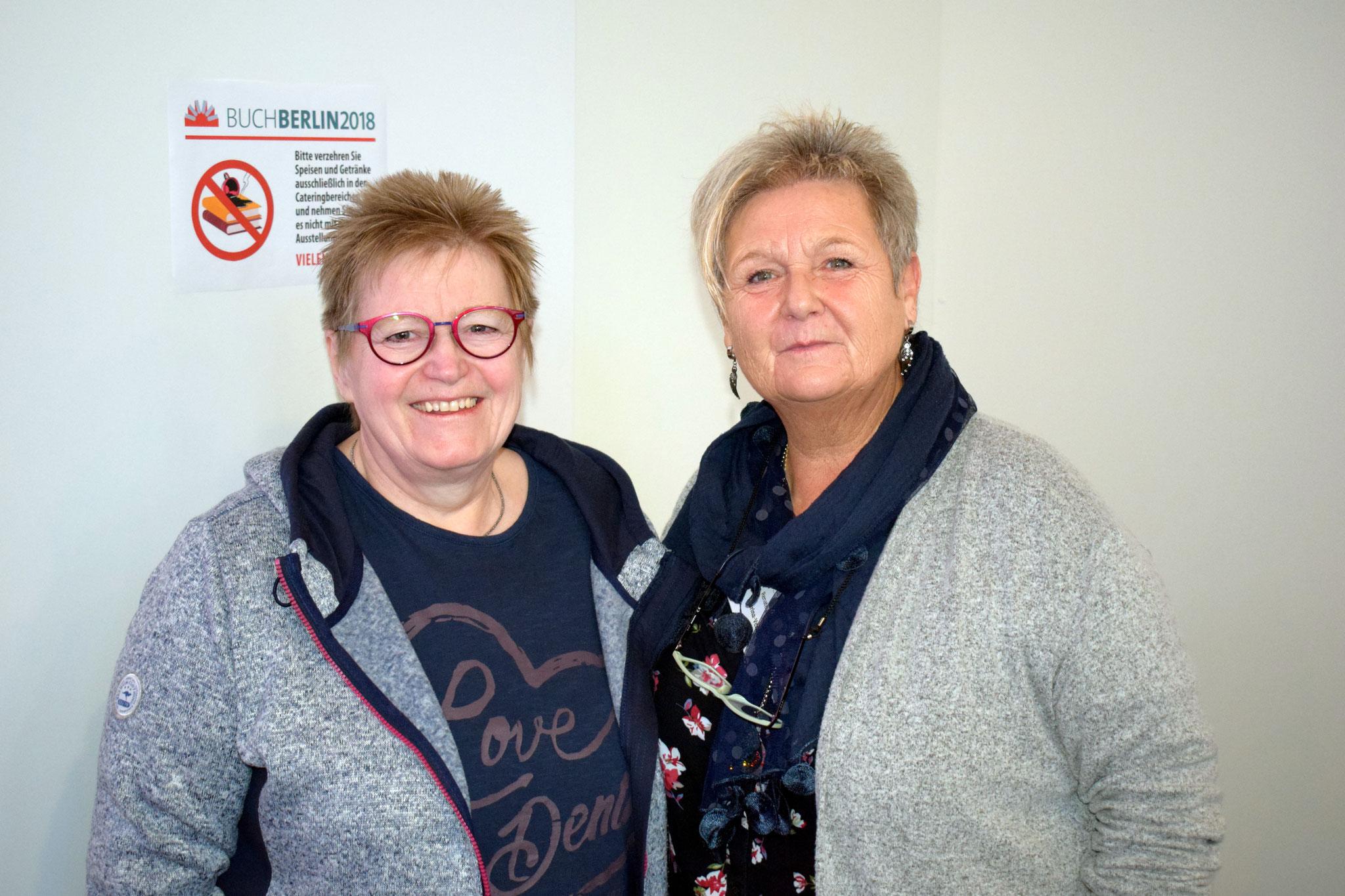Buchmesse BuchBerlin 2018, Karina-Verlag, Renate Zawrel und Rosa Ananitschev