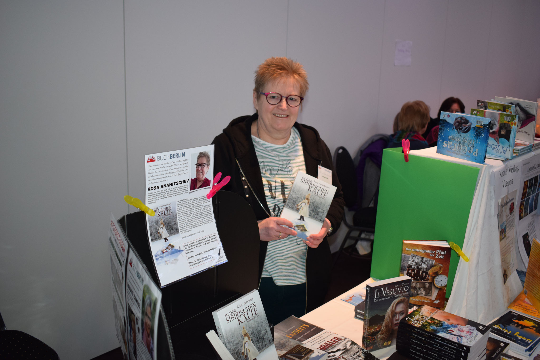 Buchmesse BuchBerlin 2018, Karina-Verlag, Autoren-Stunde Rosa Ananitschev