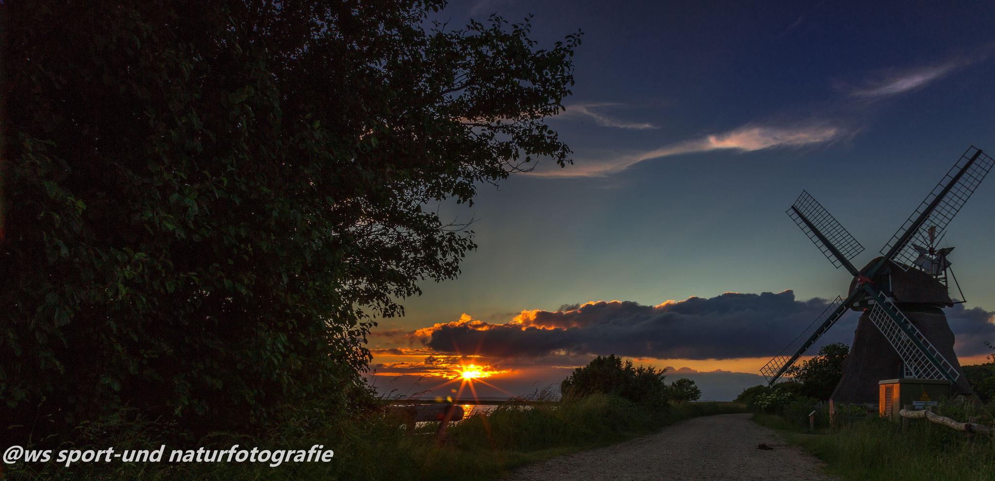Sonnenuntergang Mühle Charlotte
