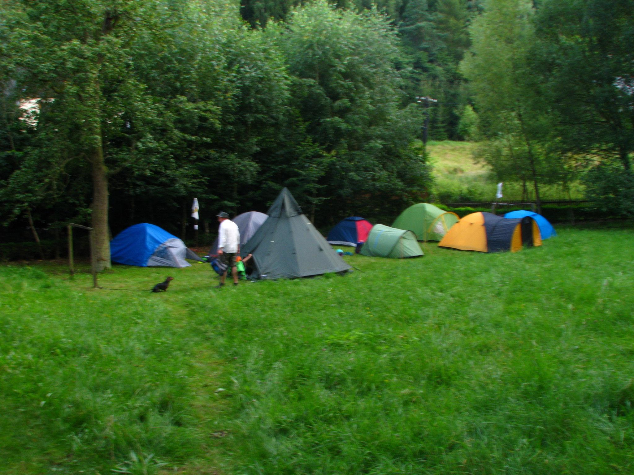 Unser Lager steht fast