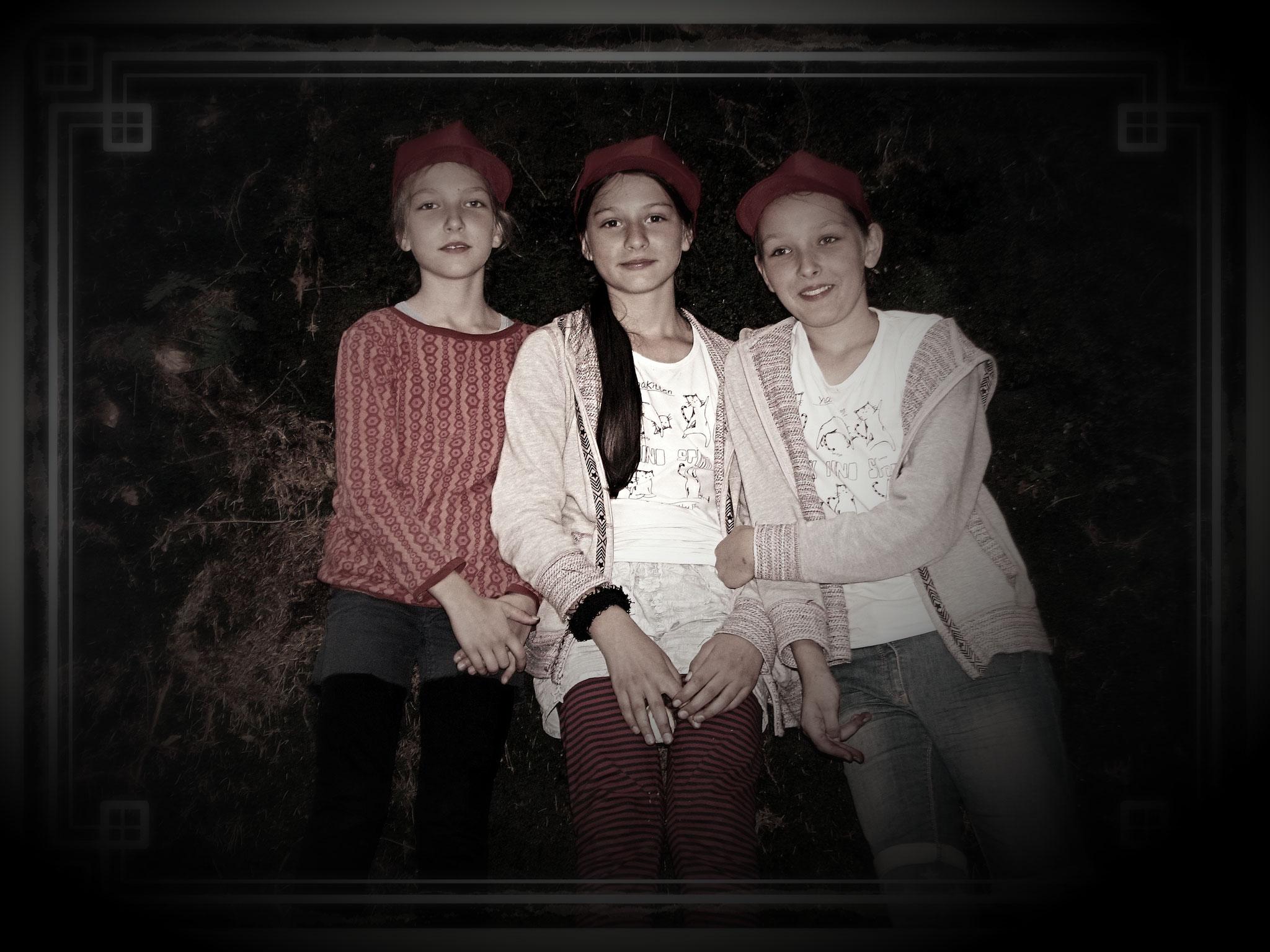 """Die drei """" Rotkäppchen"""" waren mit uns"""