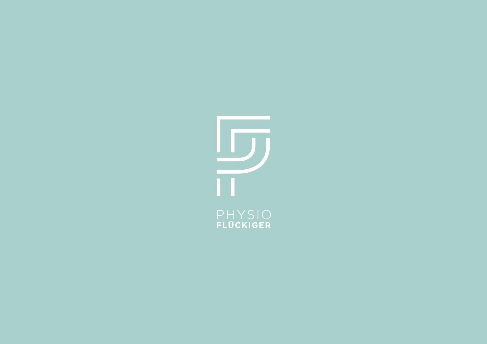 Corporate Design Flückiger Physiotherapie, Aefligen: Grafik/Layout Visitenkarten und Hausbeschriftung, Lockedesign, Burgdorf