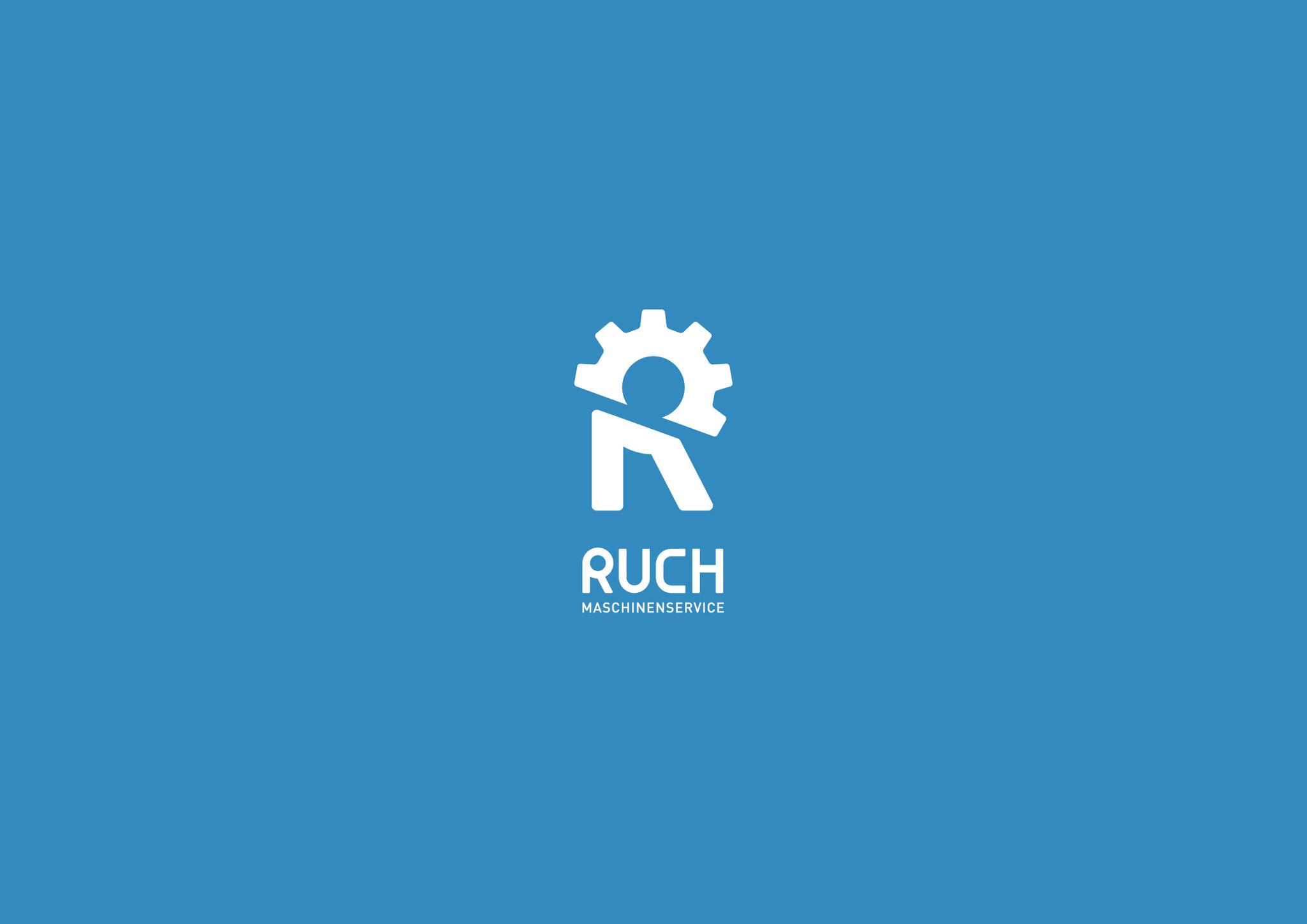 Entwicklung Logo Design by Lockedesign Burgdorf (Bern): Ruch Landmaschinenservice, Brief A4, Kuvert C5 – Textil- und Fassadenbeschriftung (Burgdorf)