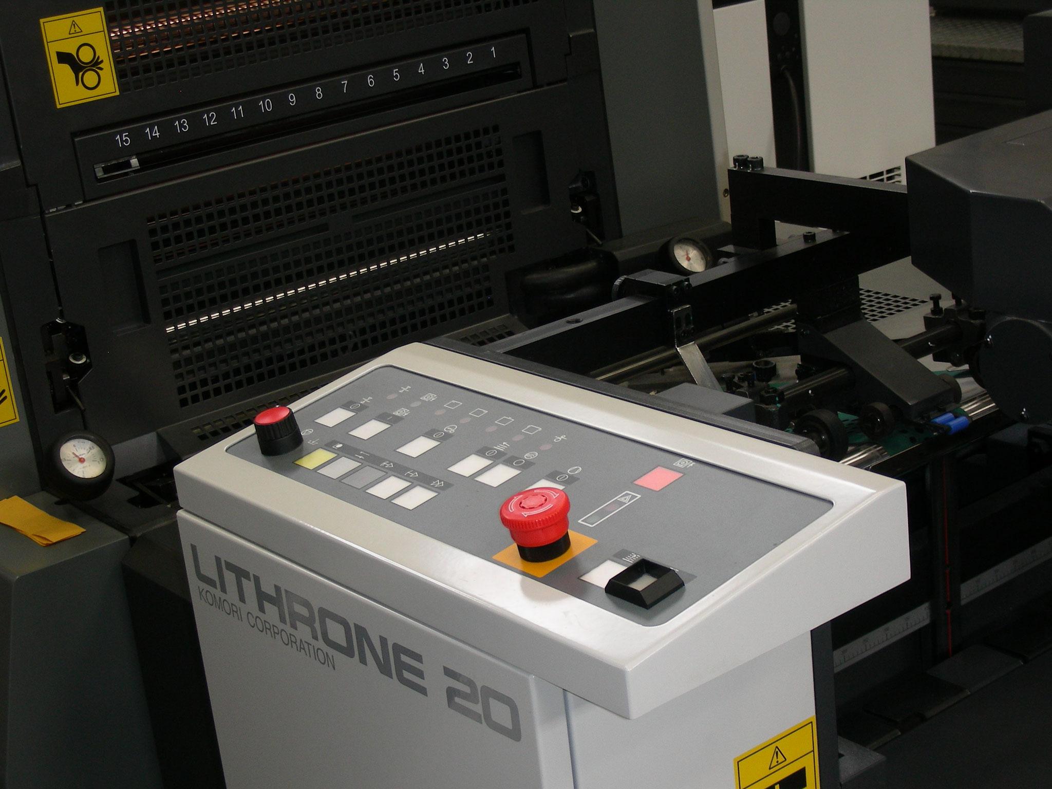 Particolare macchina da stampa KOMORI