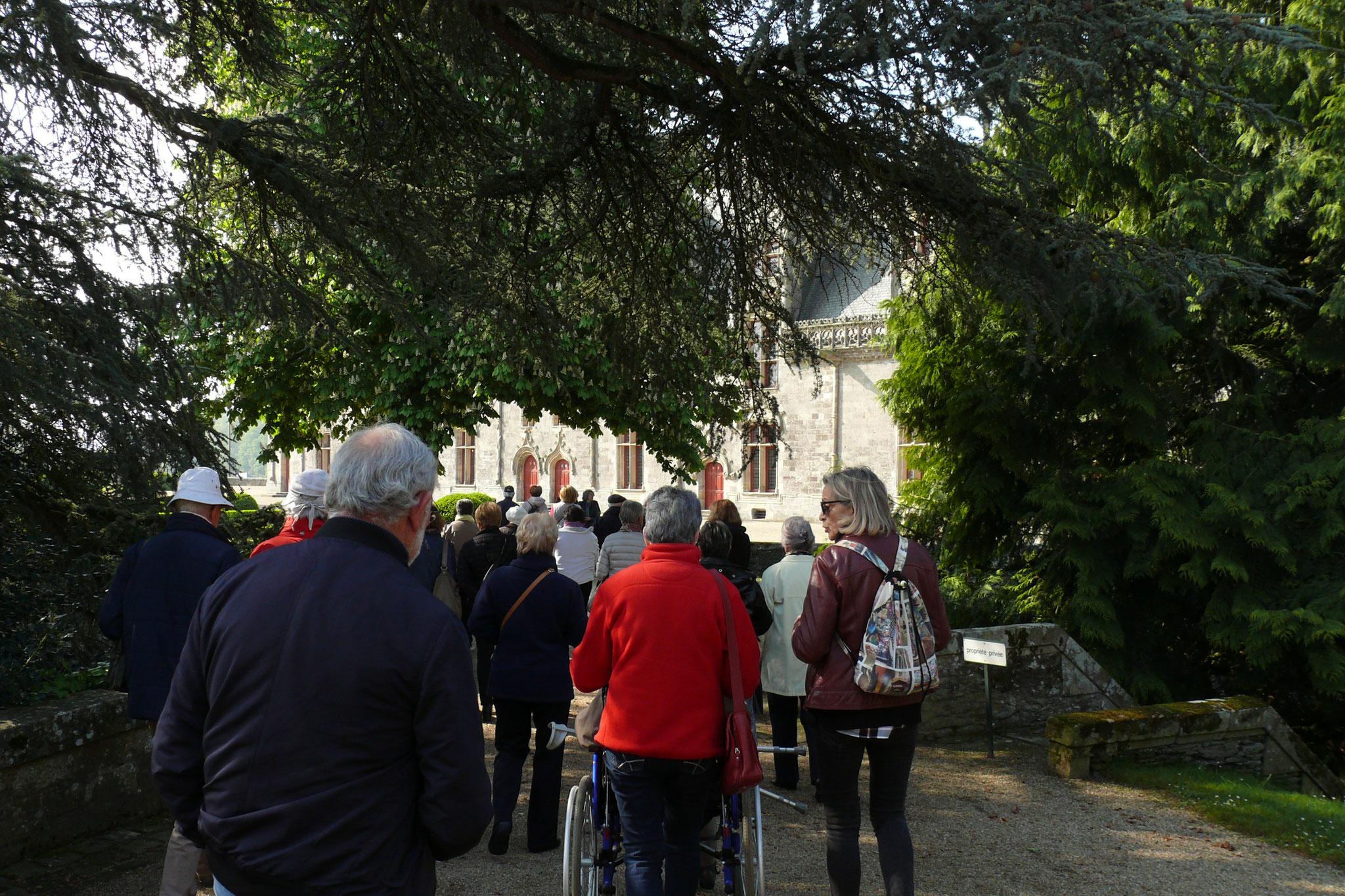 Arrivée au château de Josselin.