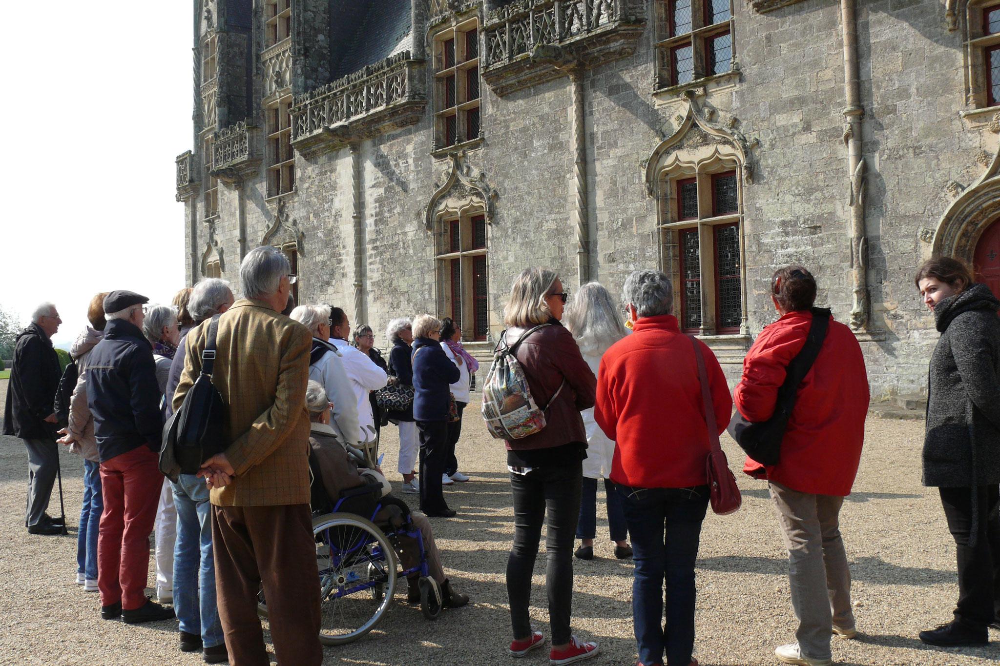 Visite du château extérieur et intérieur.