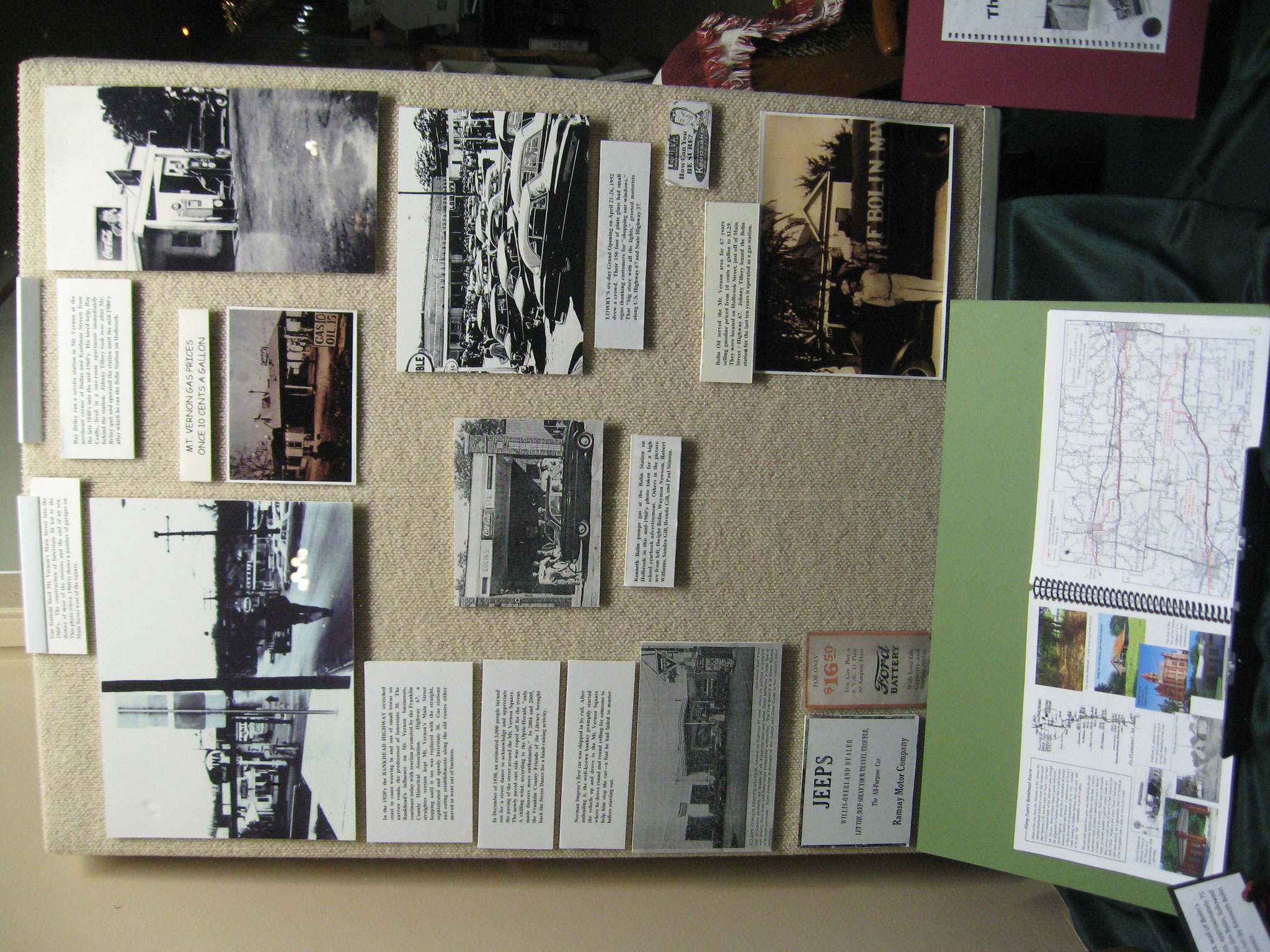 FCGS display of Ken Greer's picture boards, April 2016
