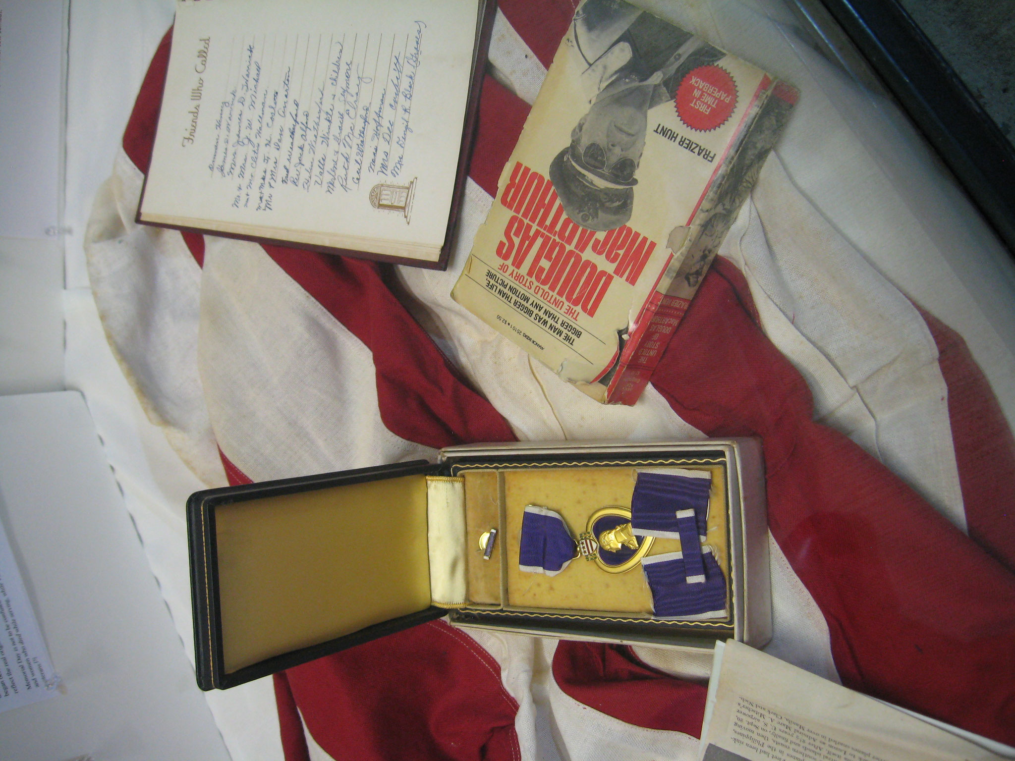 Hamrick memorabilia from WWII display, May 2016