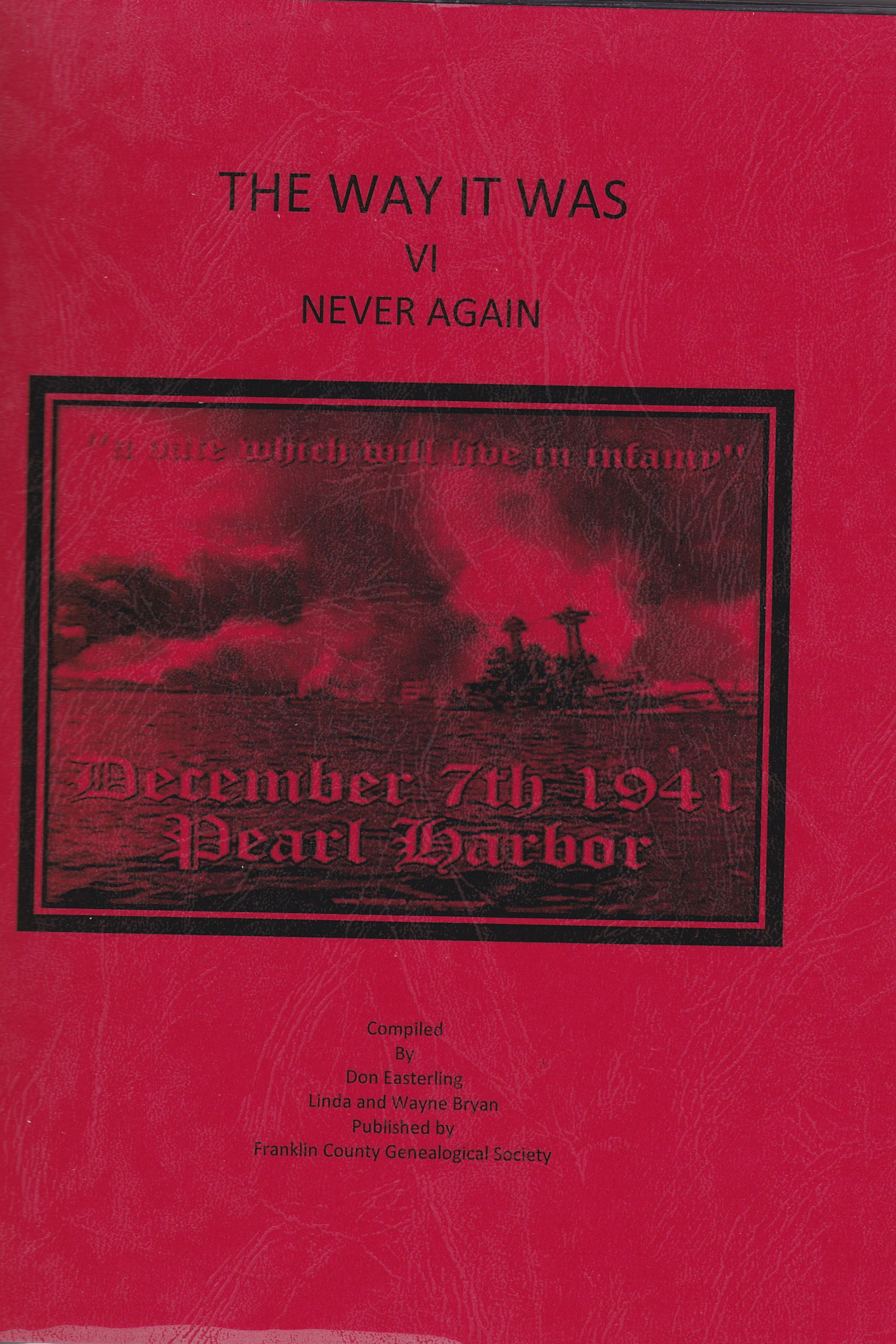 Cover of The Way It Was, VI: Never Again (available individually or as part of The Way It Was set)