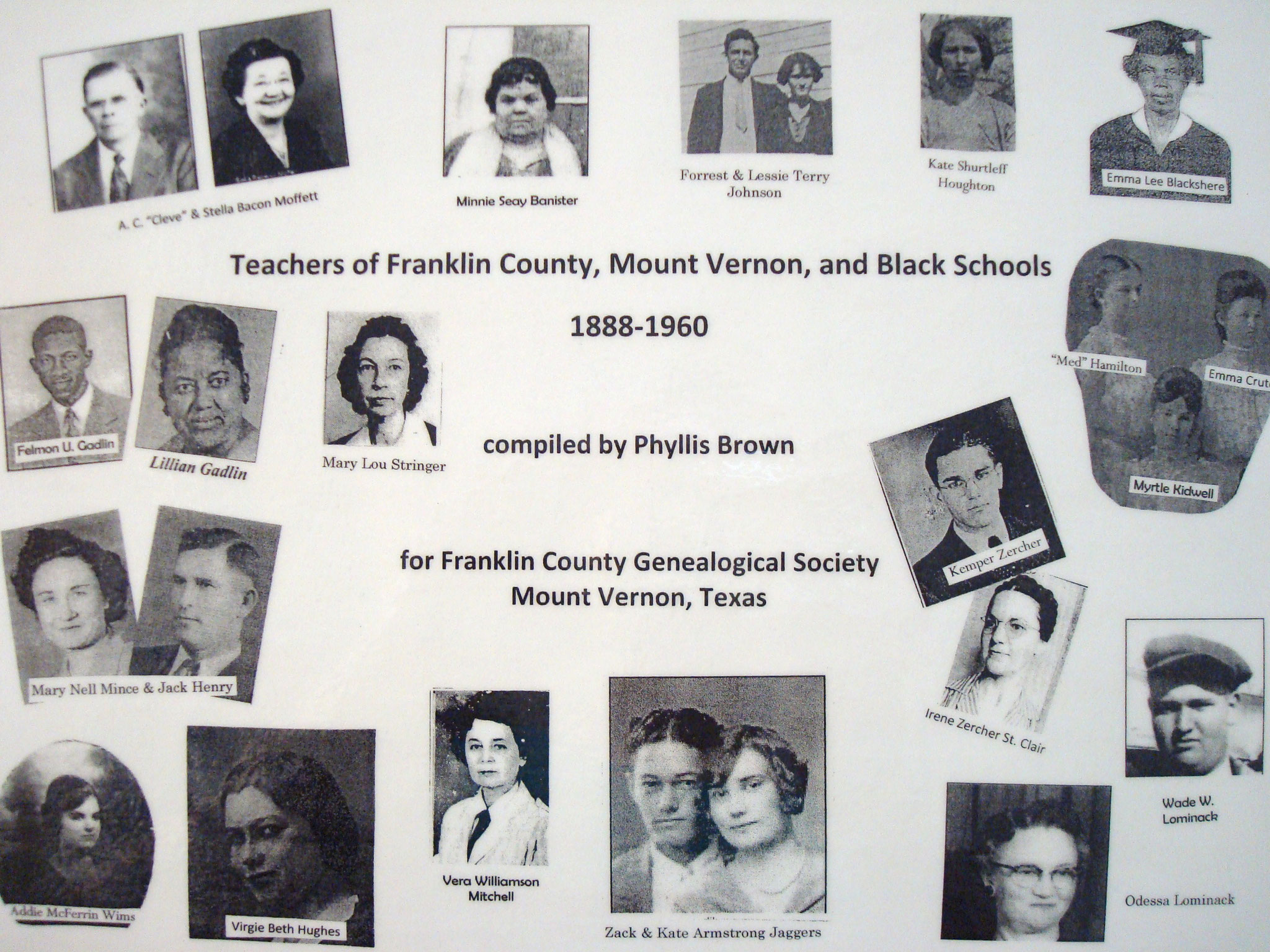 Cover of Teachers of Franklin County, Mount Vernon, and Black Schools, 1888-1960