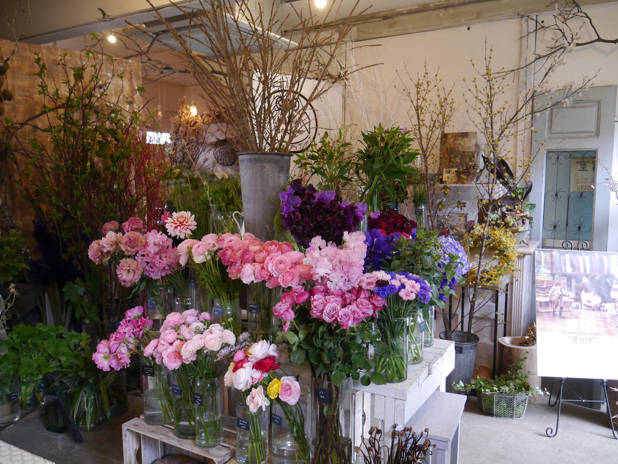 お花を選びましょう。
