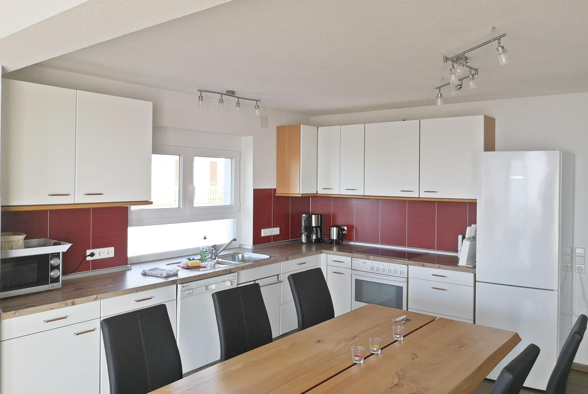 Wohhnküche mit großem Esstisch