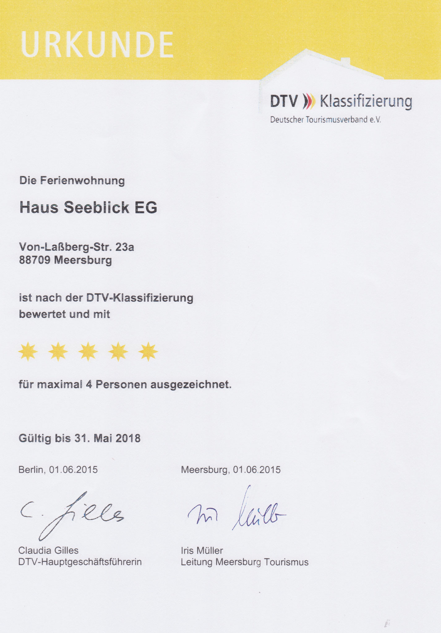 Urkunde 2015 EG-Wohnung F*****