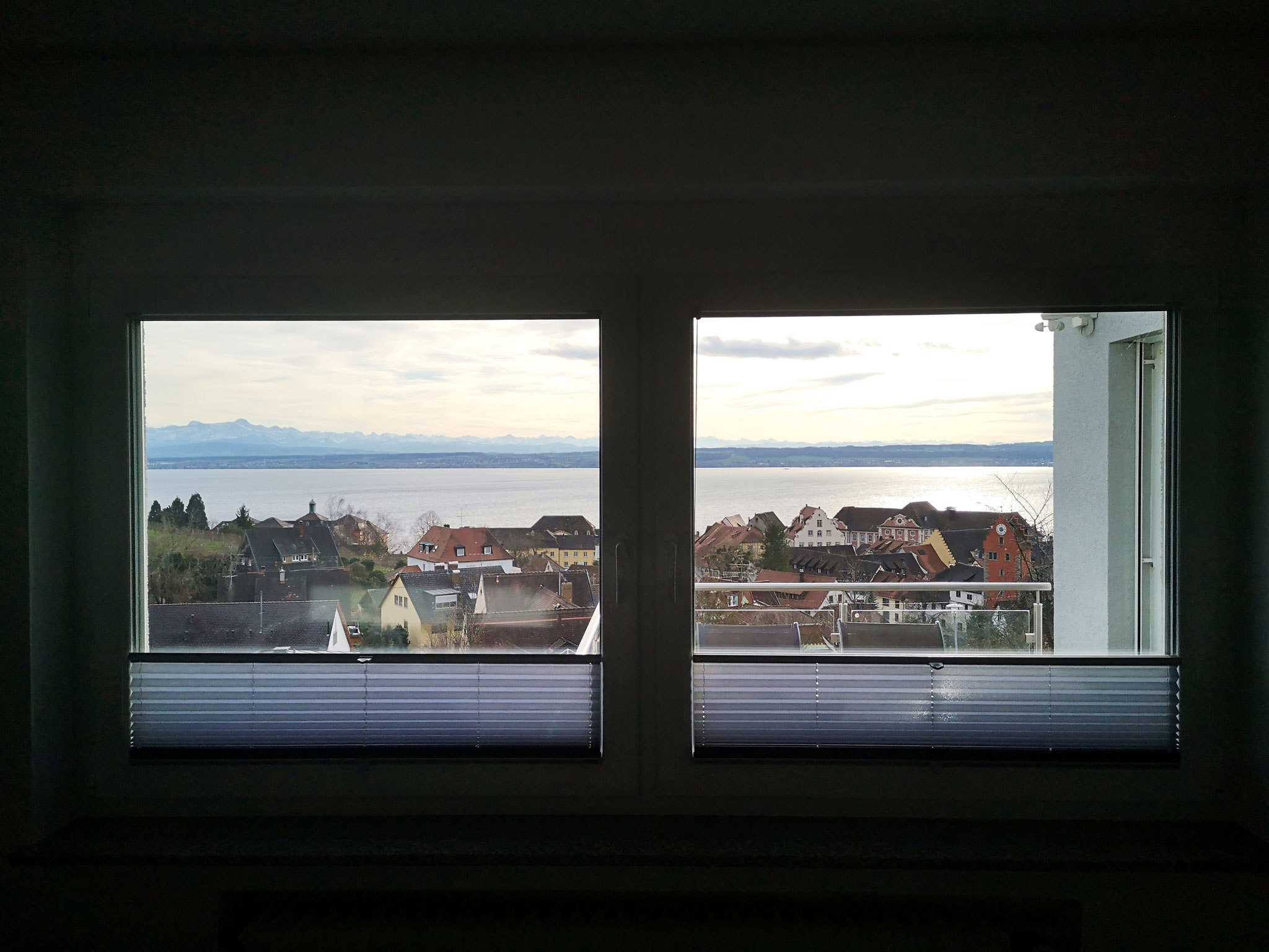 Ausblick auf dem See aus dem Schlafzimmer (Süd)