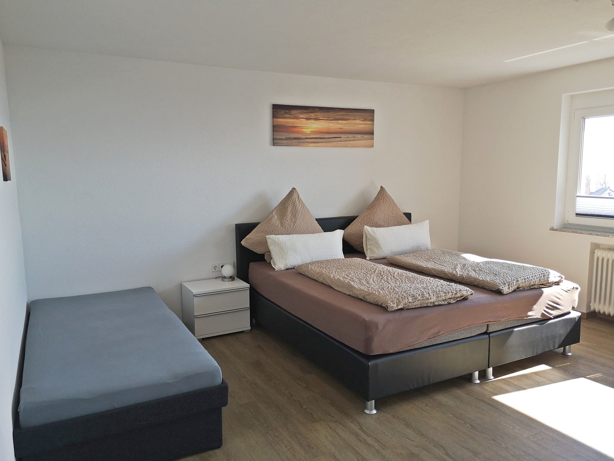 Schlafzimmer (Süd) mit drei Schlafplätzen