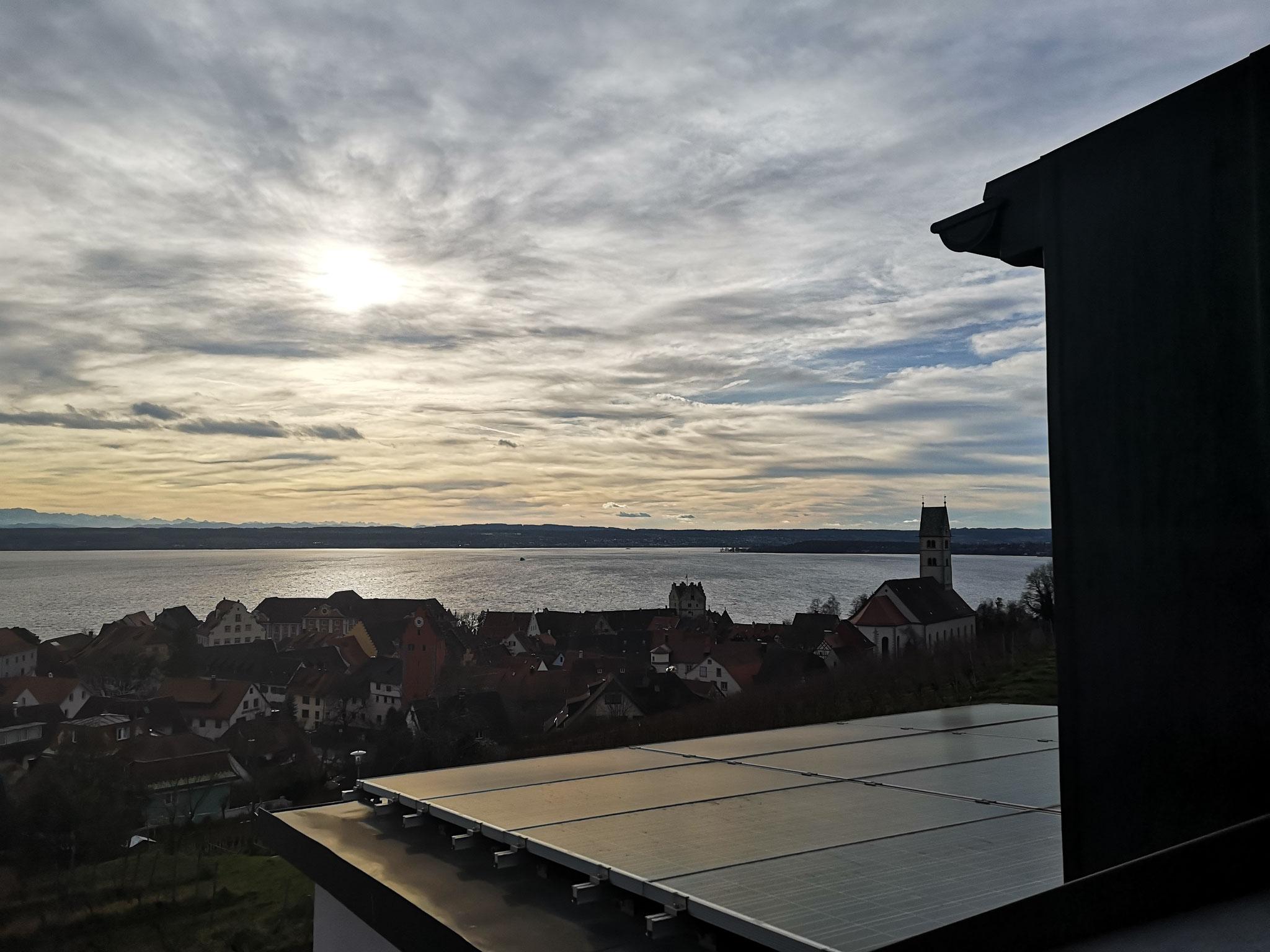 Aussicht in der kalten Jahreszeit von der Dachterrasse