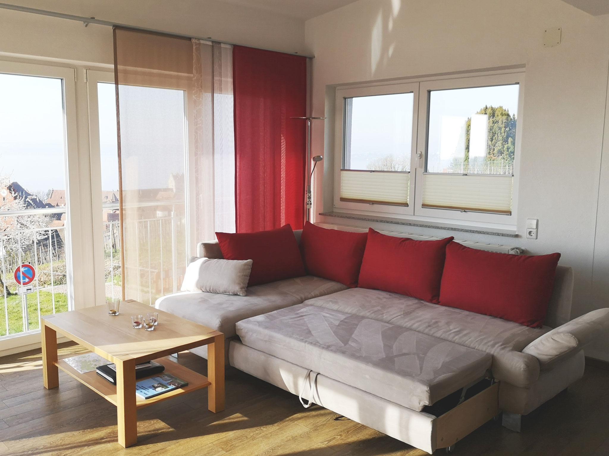 ausziehbares Sofa (weitere zwei Schlafplätze)