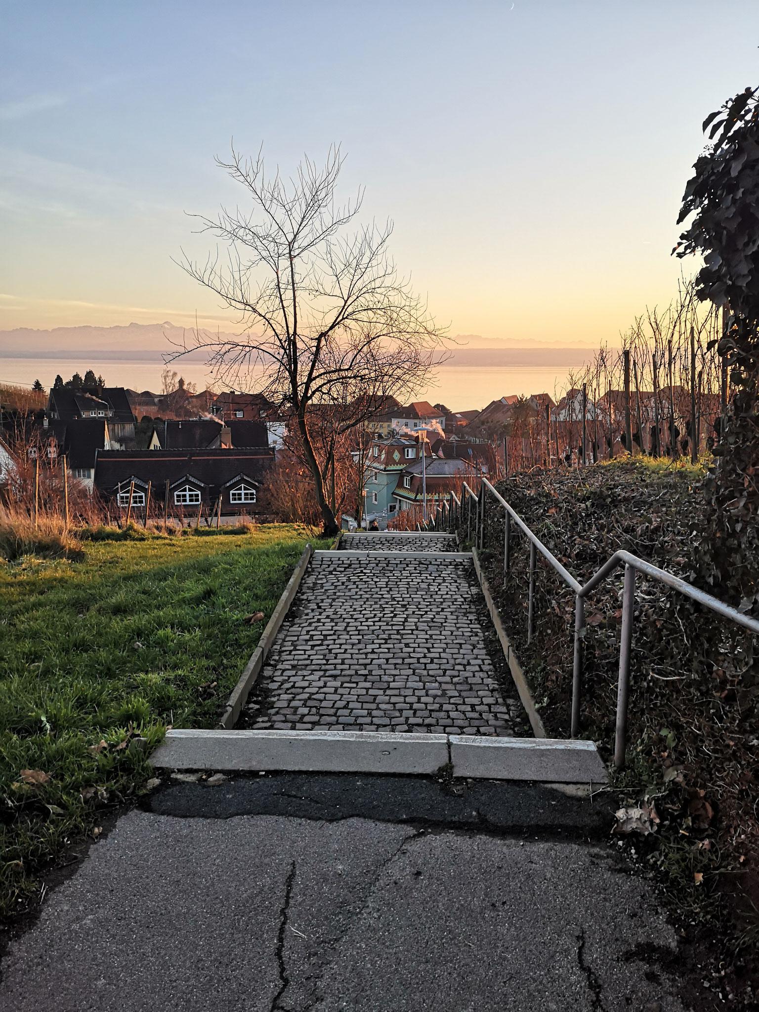 Treppe zur Altstadt - direkt vor dem Haus